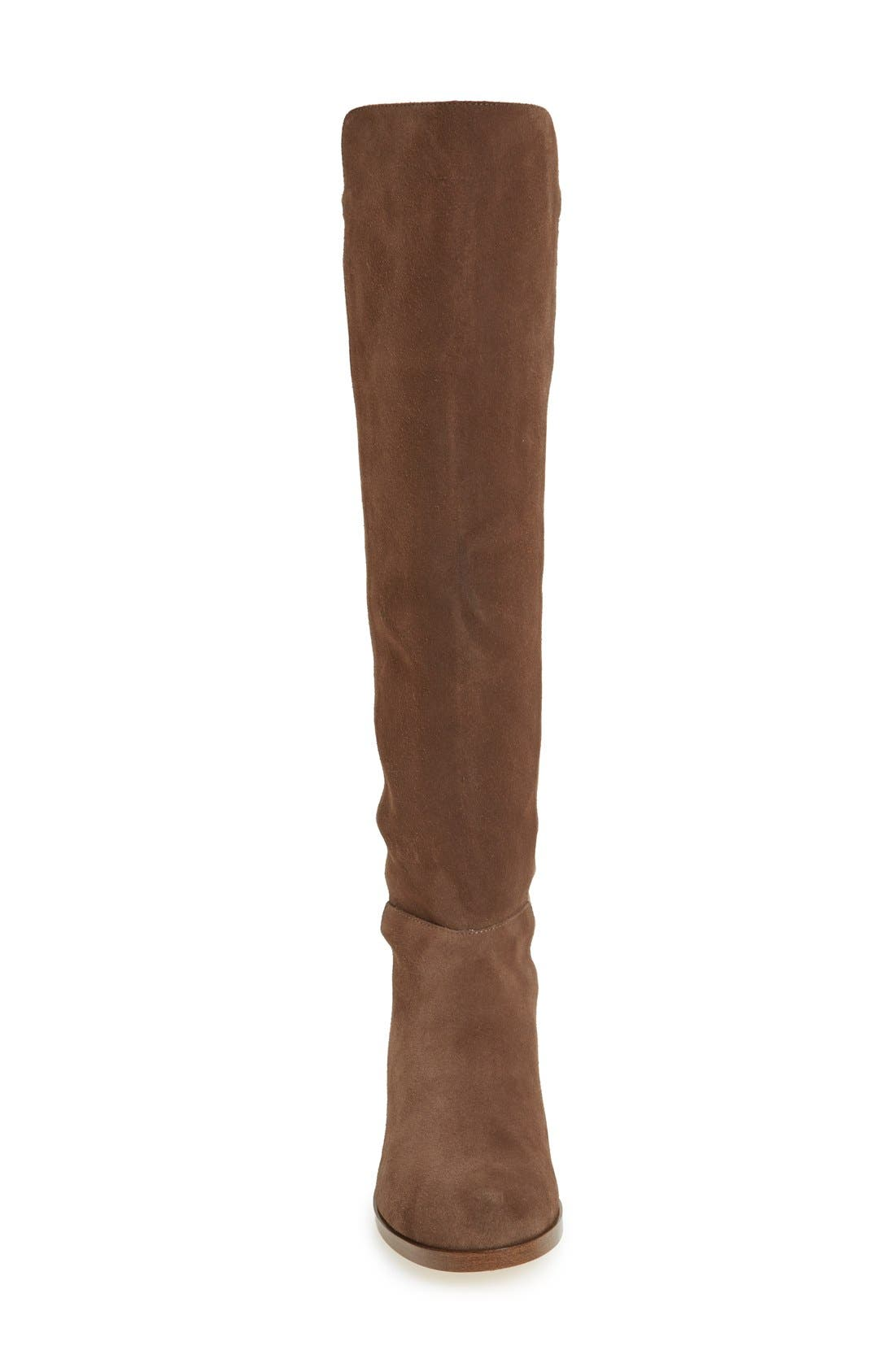 Calypso Over the Knee Boot,                             Alternate thumbnail 3, color,                             Taupe Suede