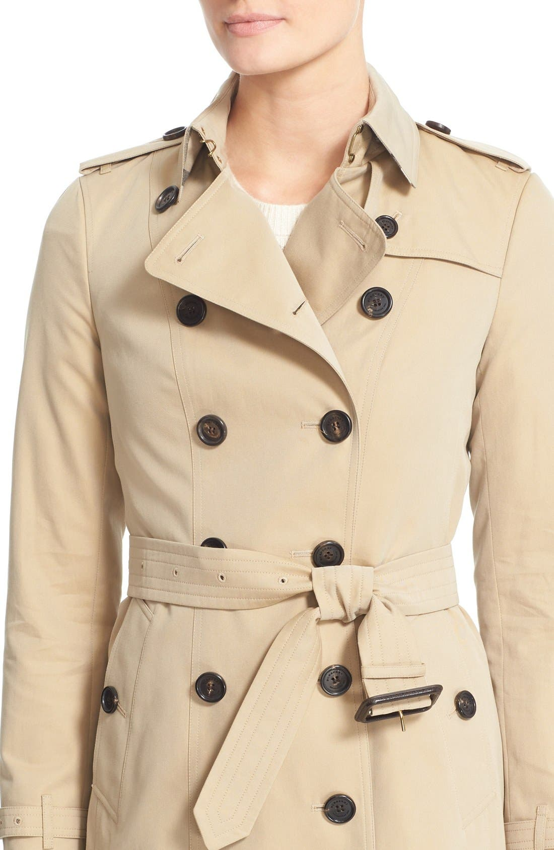 Alternate Image 6  - Burberry Sandringham Short Slim Trench Coat
