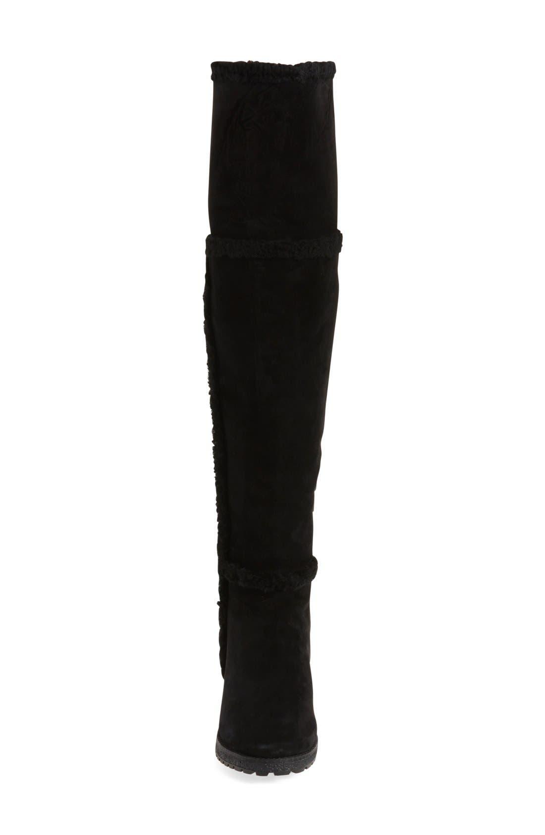 Alternate Image 3  - Frye 'Tamara' Genuine Shearling Over the Knee Boot (Women)