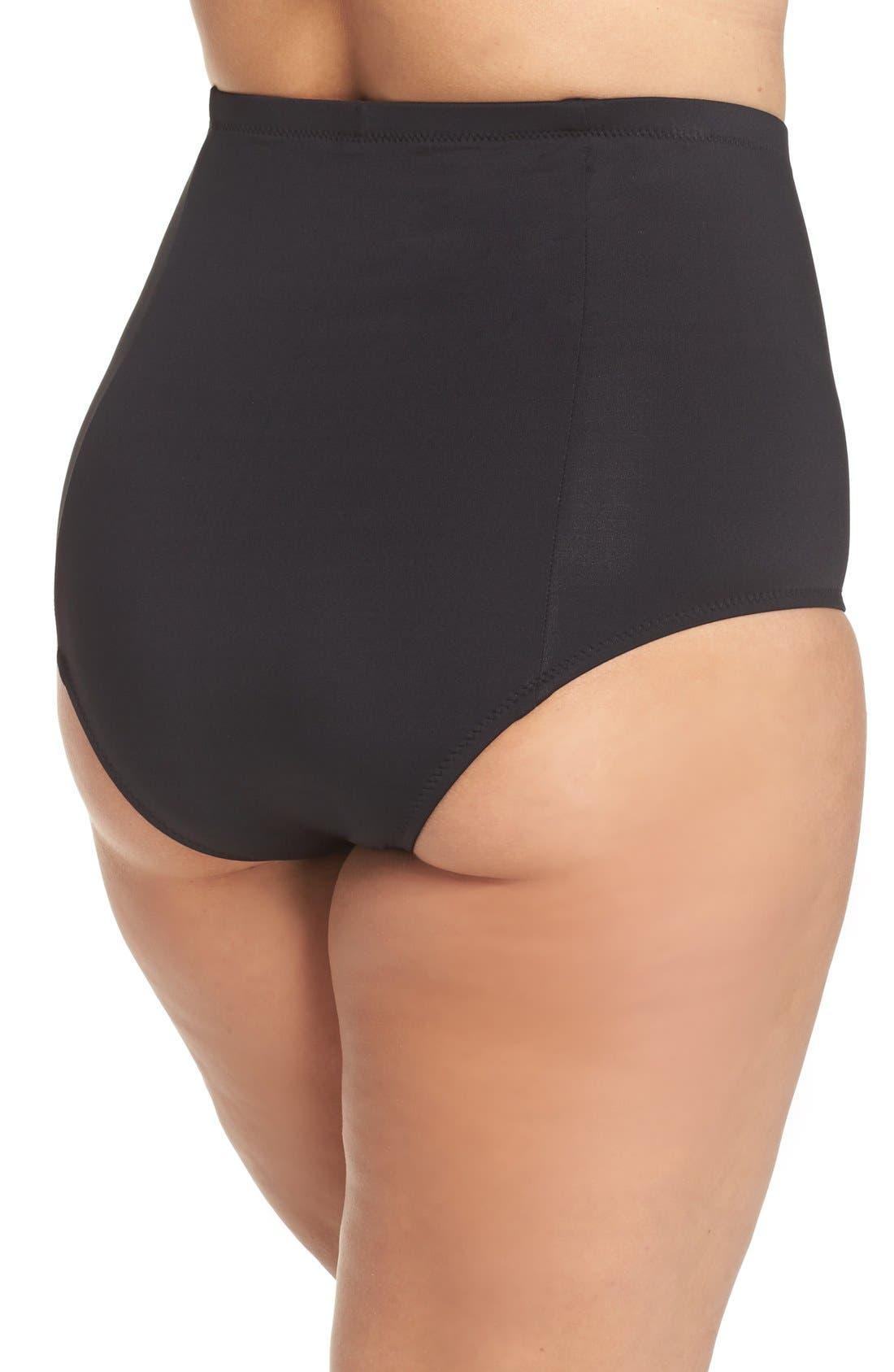 Alternate Image 2  - Becca Etc. Color Code High Waist Bikini Bottoms (Plus Size)