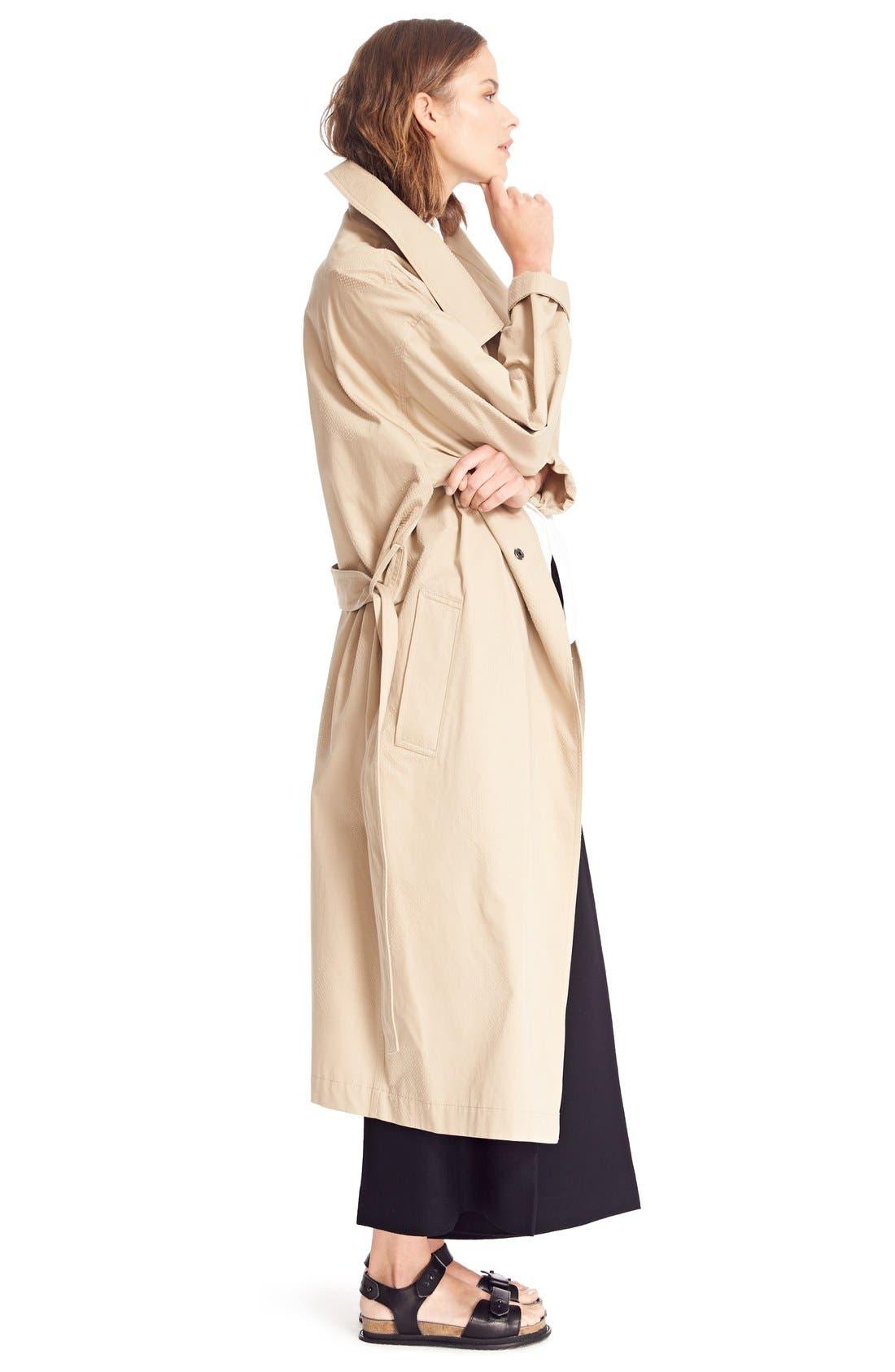U-Gown Coat,                             Alternate thumbnail 7, color,                             Beige