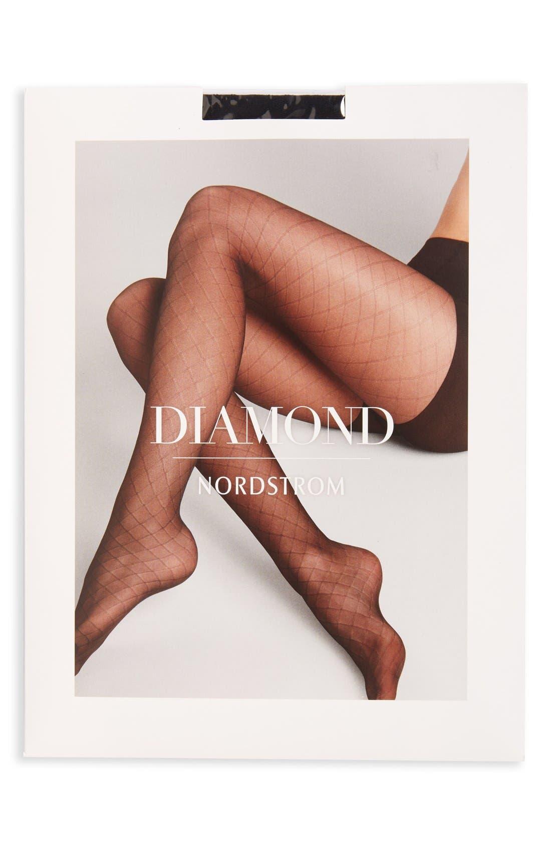 Alternate Image 2  - Nordstrom Diamond Knit Sheer Pantyhose (3 for $36)