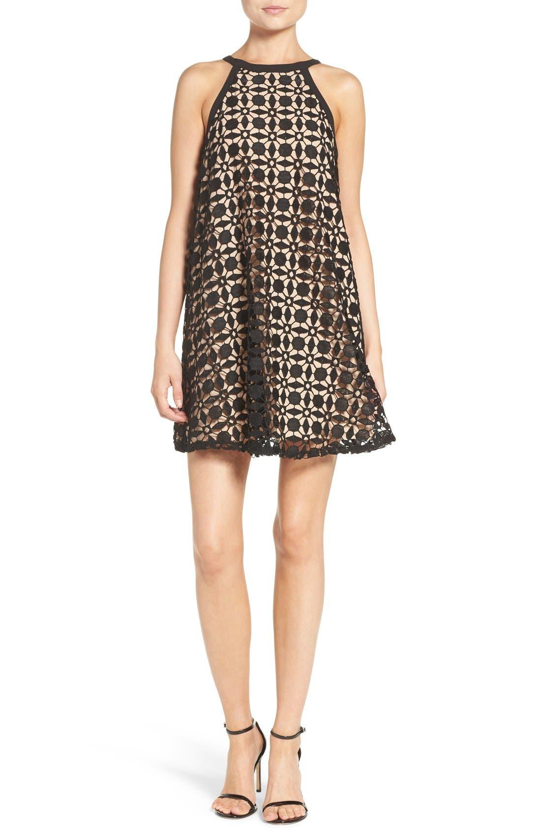 Alternate Image 4  - Chelsea28 Lace Trapeze Dress