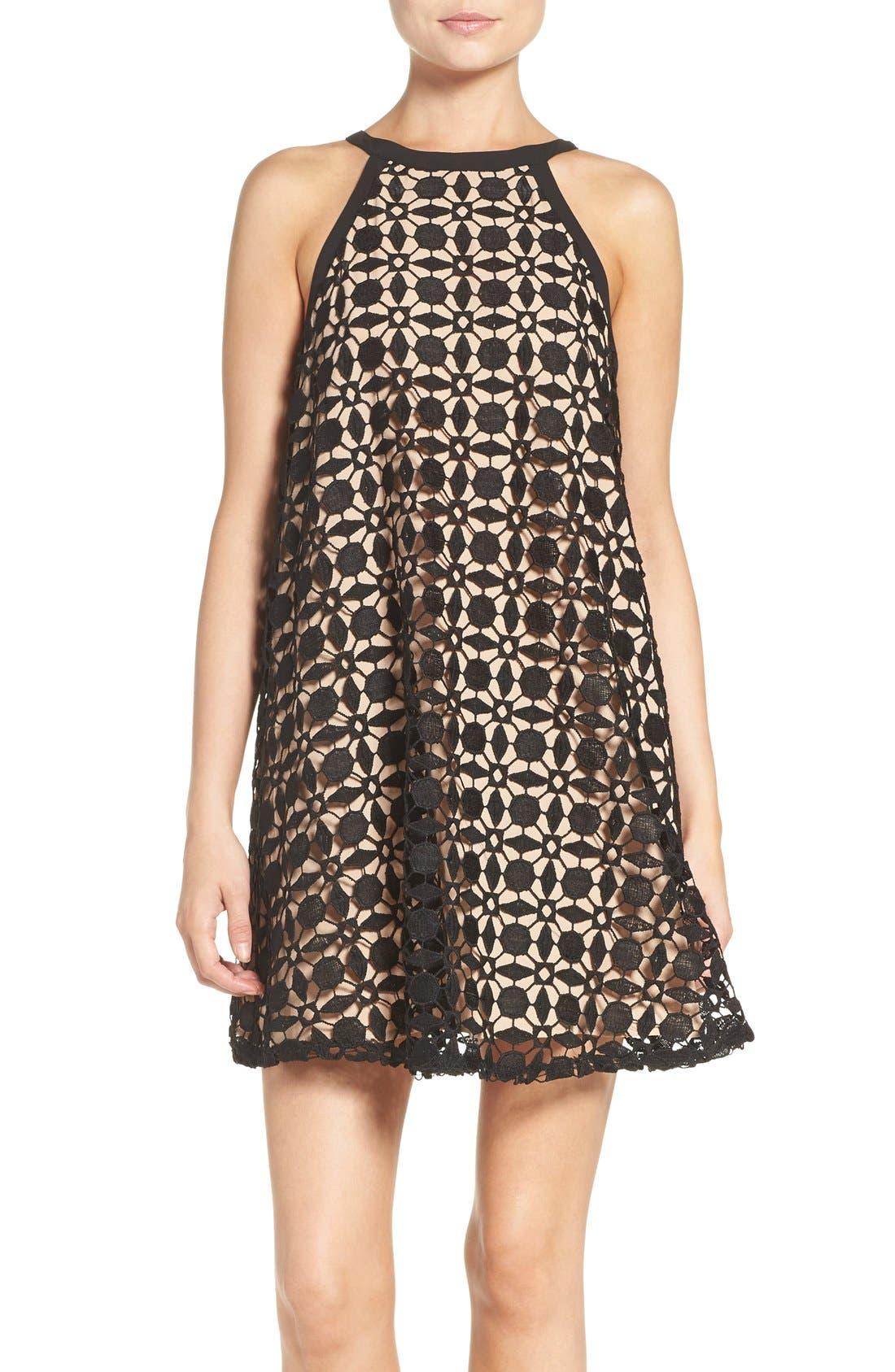 Main Image - Chelsea28 Lace Trapeze Dress
