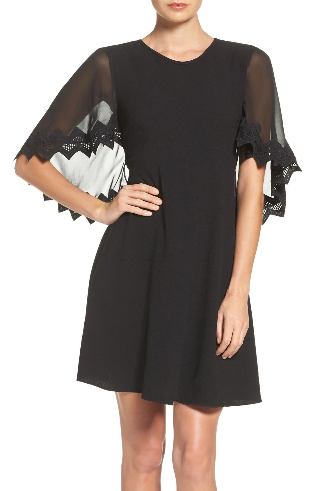 Alternate Image 1 Selected - Taylor Dresses Chiffon Caplet Dress