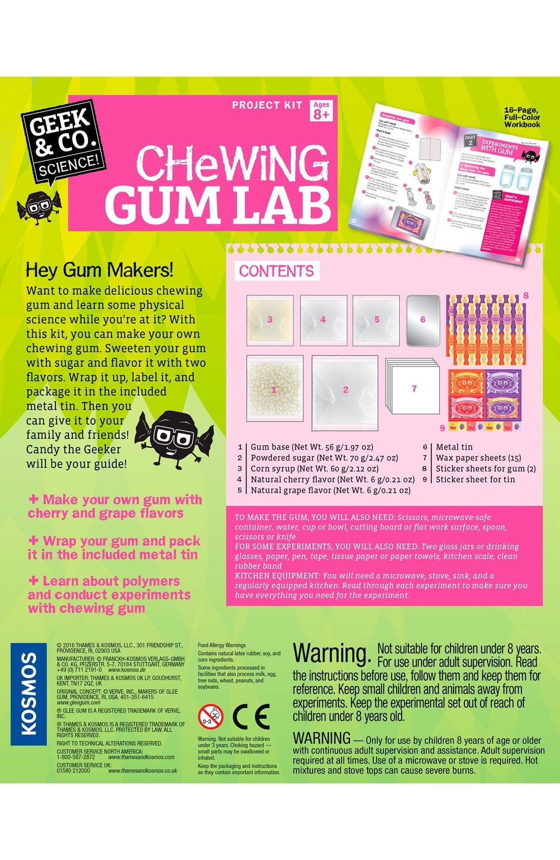 Chewing Gum Lab Kit,                             Alternate thumbnail 2, color,                             Multi