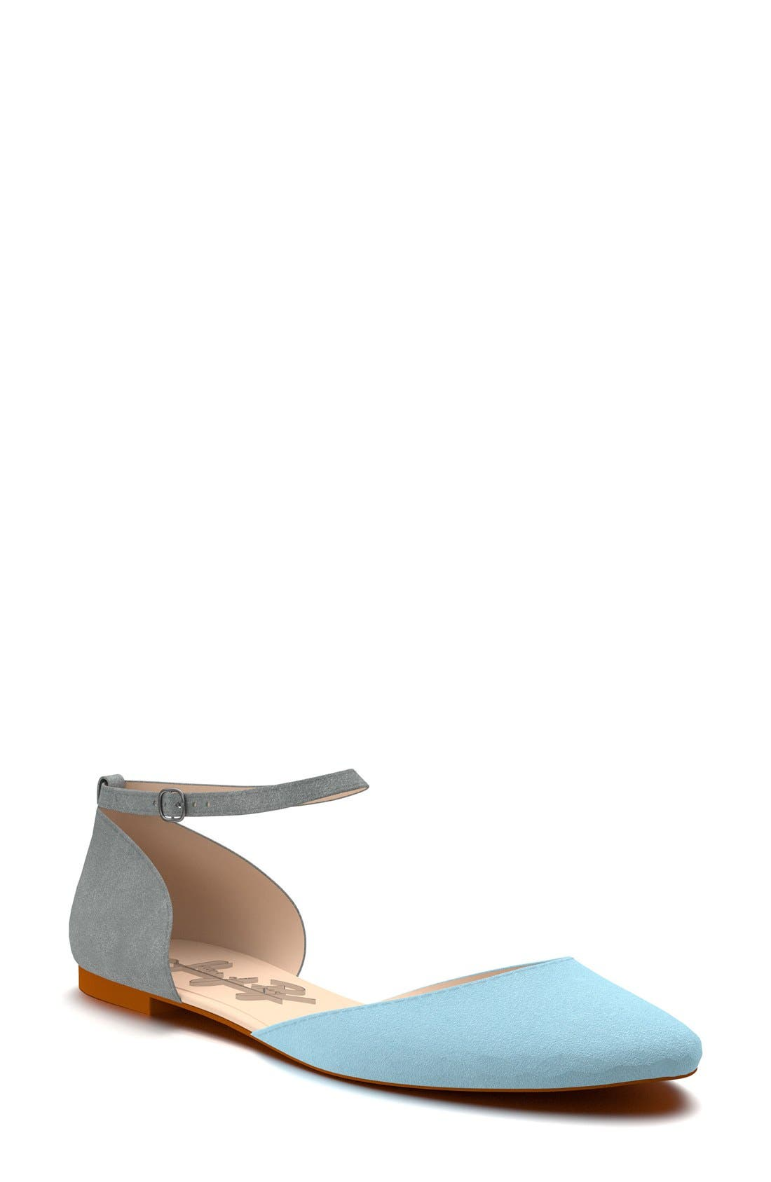 Shoes of Prey Ankle Strap d'Orsay Flat (Women)
