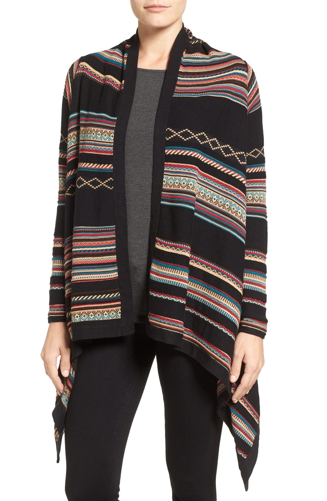 Stripe Jacquard Cardigan,                         Main,                         color, Multi
