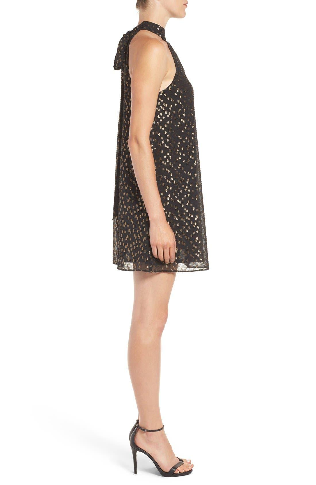 Alternate Image 3  - Chelsea28 Metallic Halter Dress
