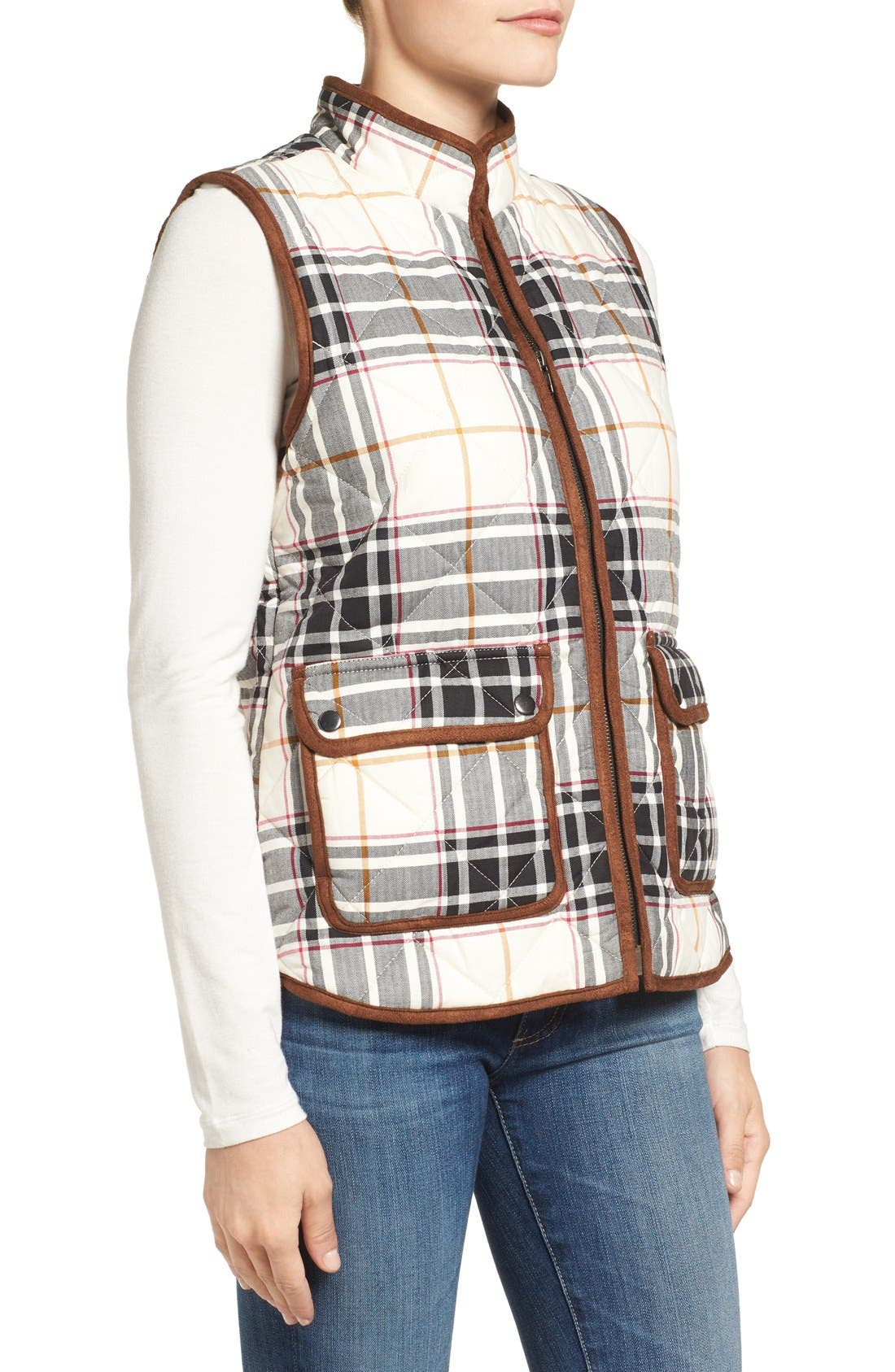 Alternate Image 3  - Foxcroft Plaid Quilt Vest