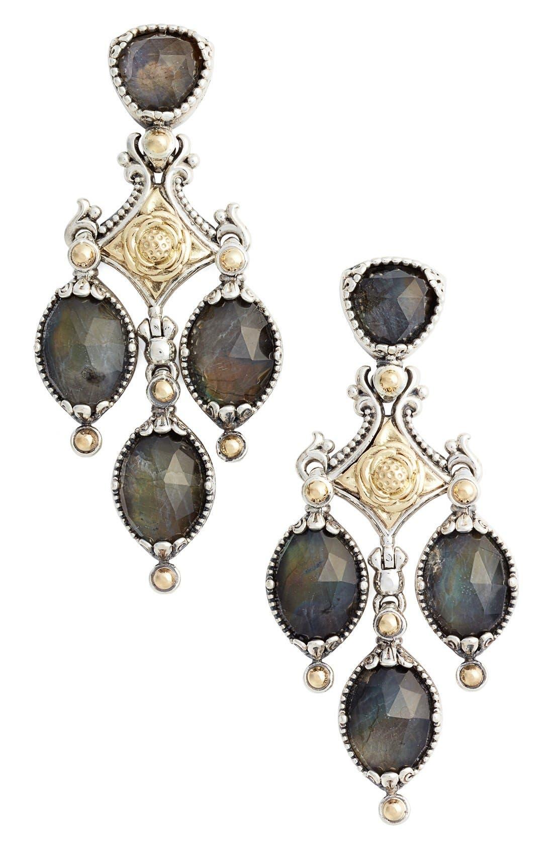 Konstantino Cassiopeia Triple Drop Chandelier Earrings