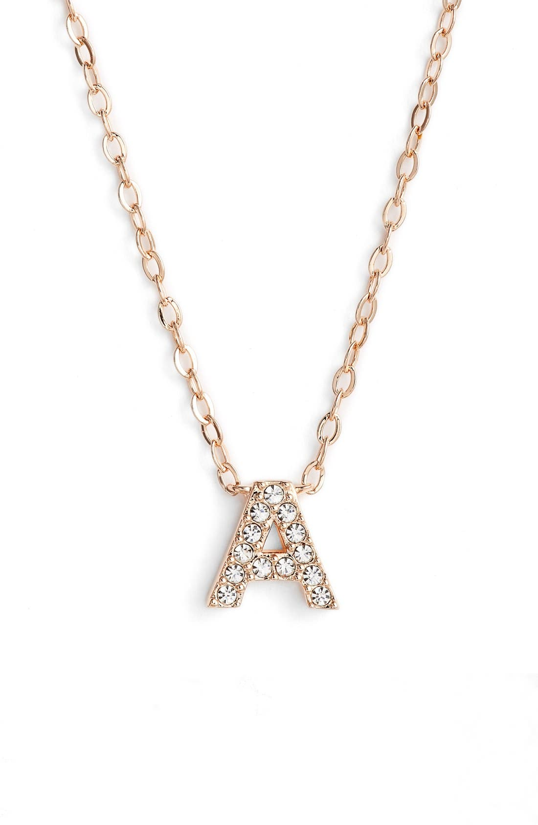 Nadri initial pendant necklace a rose gold modesens nadri initial pendant necklace a rose gold aloadofball Choice Image