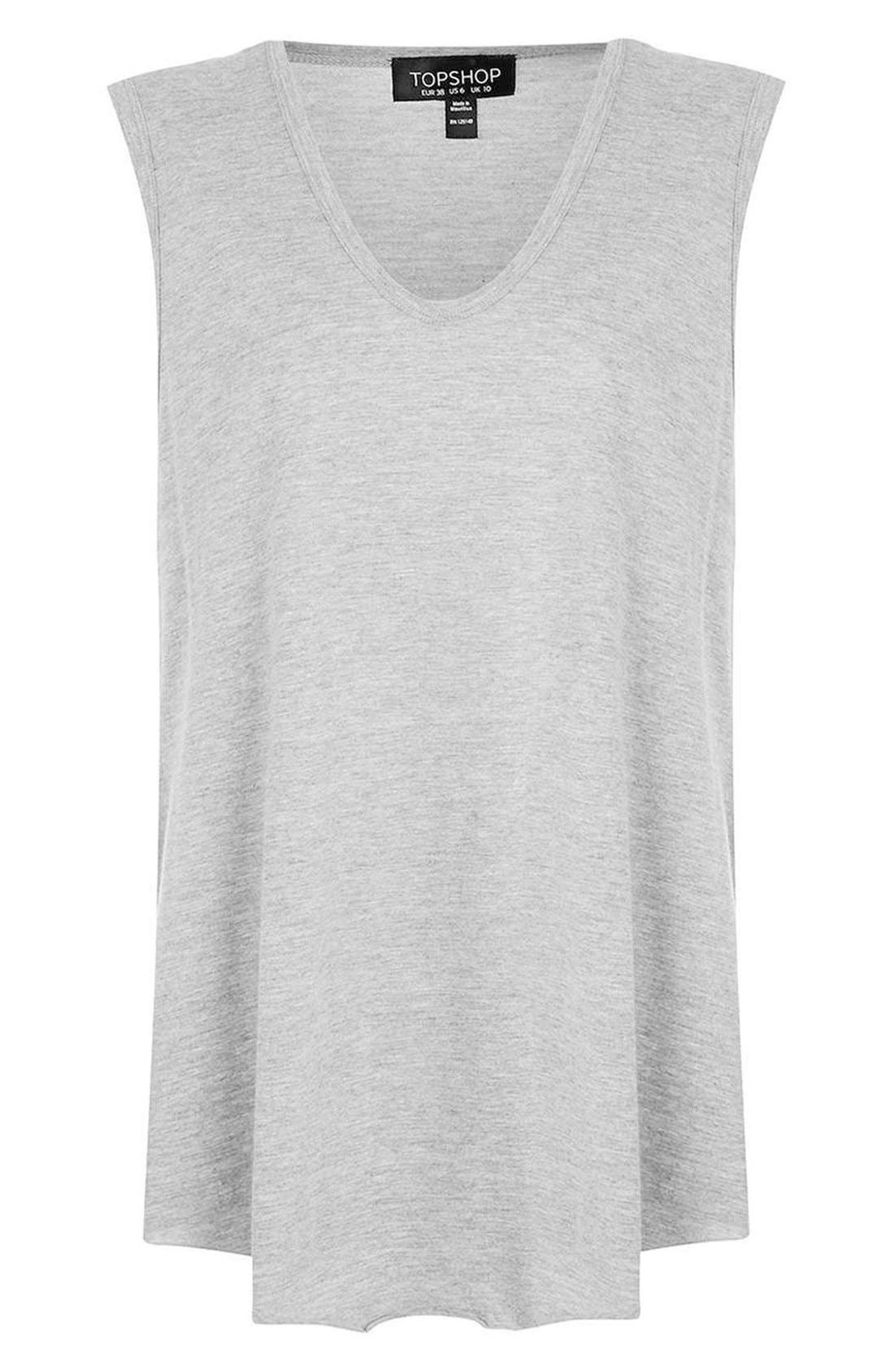 Alternate Image 5  - Topshop Slouchy U-Neck Tank