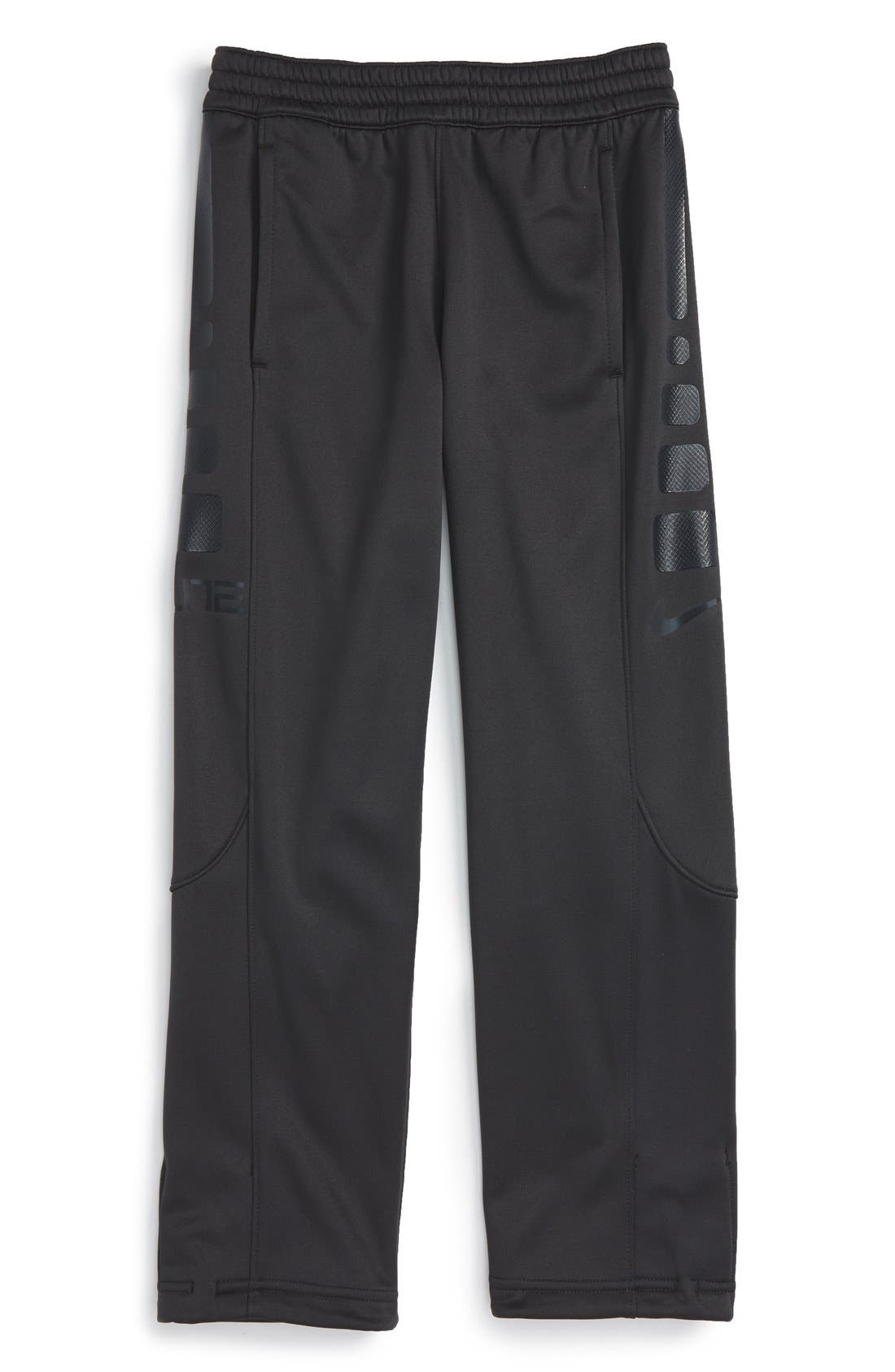 'Elite' Therma-FIT Pants,                             Main thumbnail 1, color,                             Antrhacite/ Black