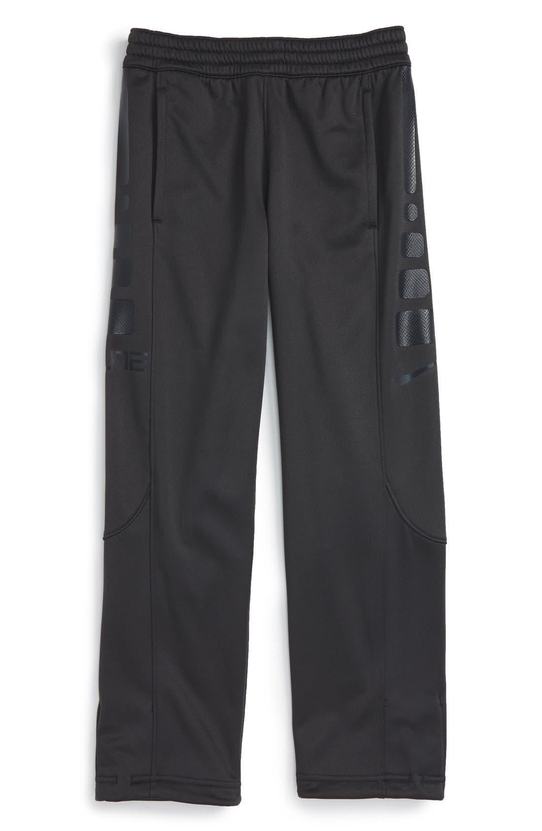 'Elite' Therma-FIT Pants,                         Main,                         color, Antrhacite/ Black