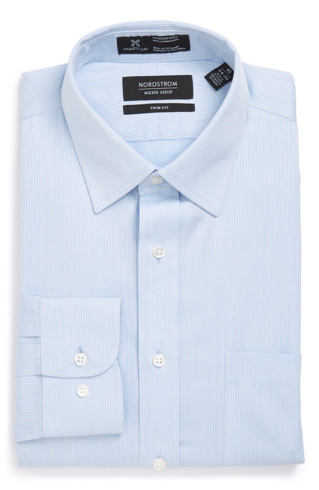 Nordstrom Menu0026#39;s Shop Smartcareu2122 Trim Fit Dress Shirt | Nordstrom