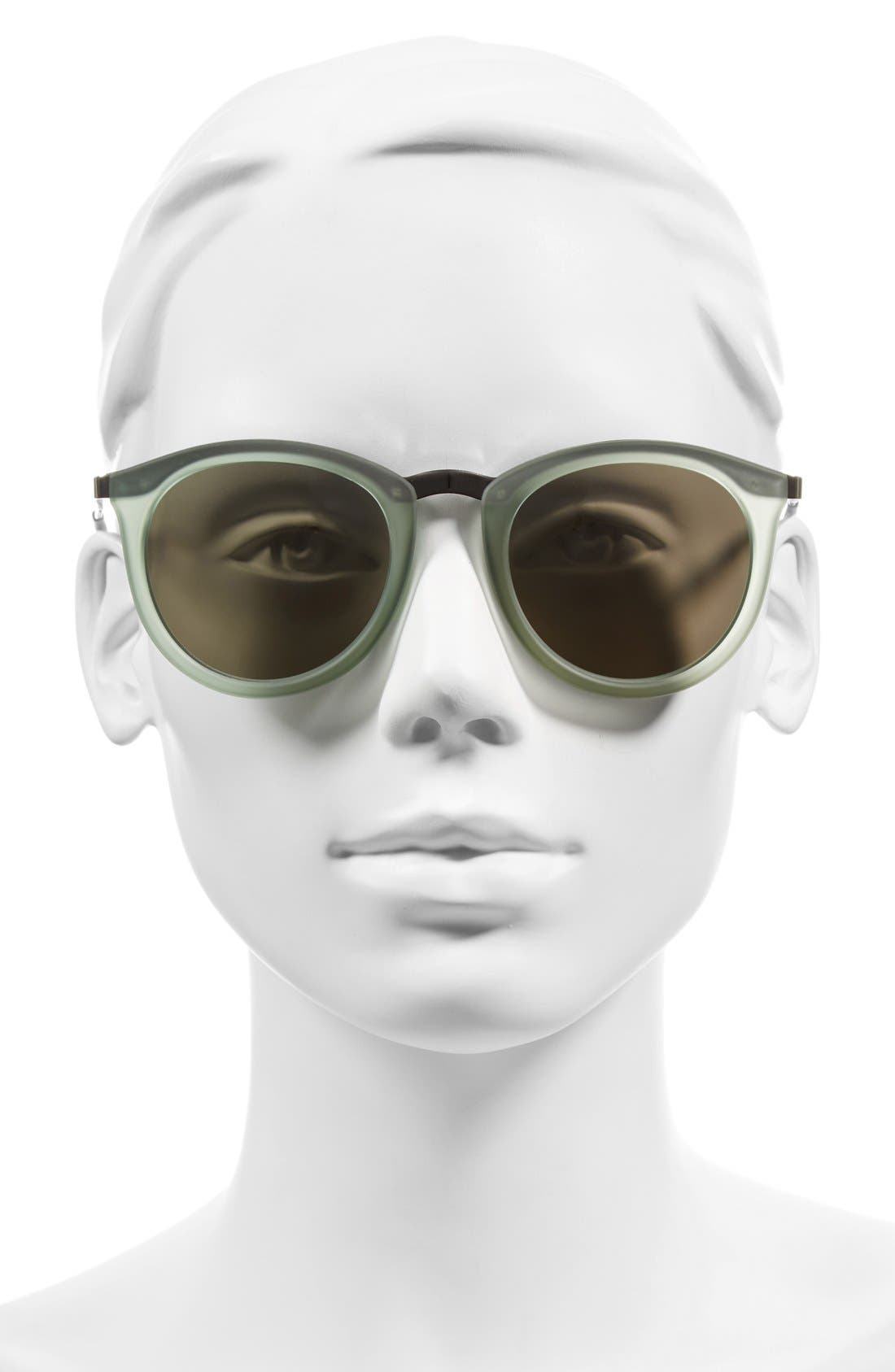 No Smirking 50mm Sunglasses,                             Alternate thumbnail 2, color,                             Olive Rubber/ Silver