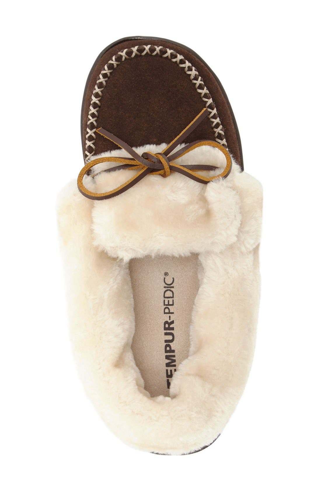 Laurin Slipper,                             Alternate thumbnail 3, color,                             Chocolate Suede