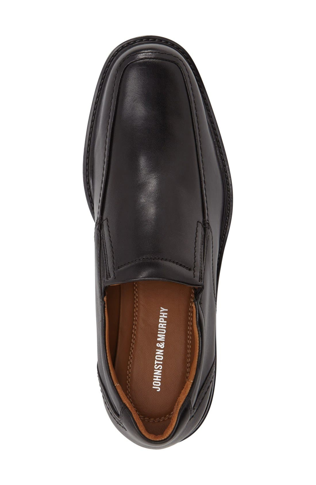 Tabor Venetian Loafer,                             Alternate thumbnail 3, color,                             Black Leather