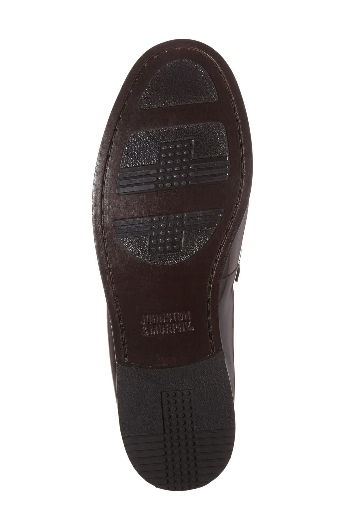 Pannell Penny Loafer,                             Alternate thumbnail 4, color,                             Burgundy Leather
