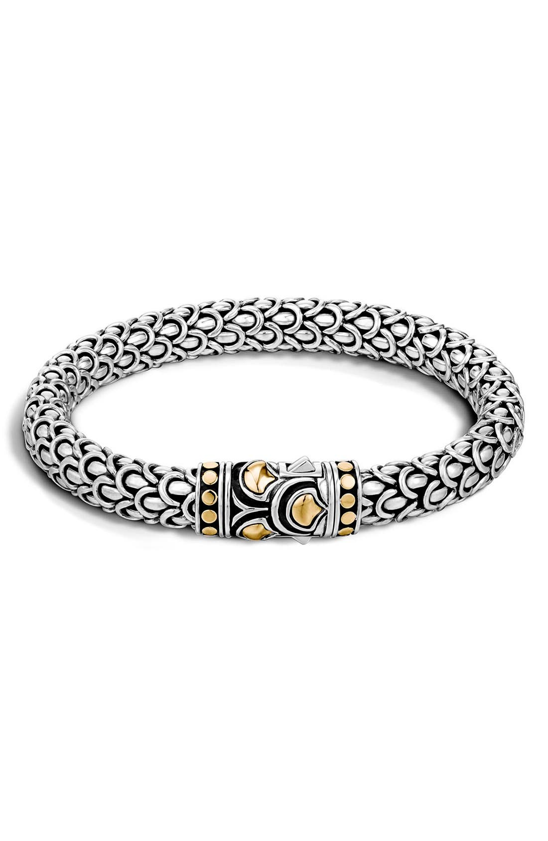 Legends Naga 7mm Station Bracelet,                             Main thumbnail 1, color,                             Silver/ Gold