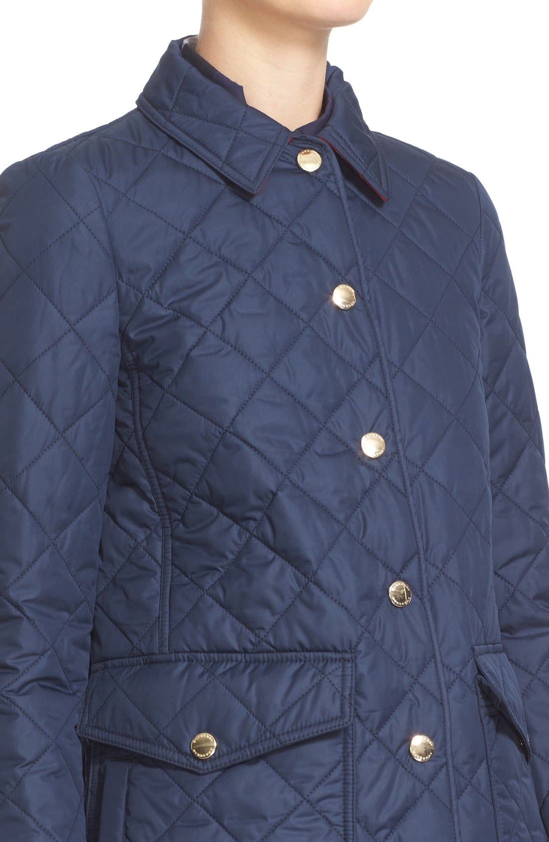 Alternate Image 6  - Burberry Westbridge Quilted Jacket
