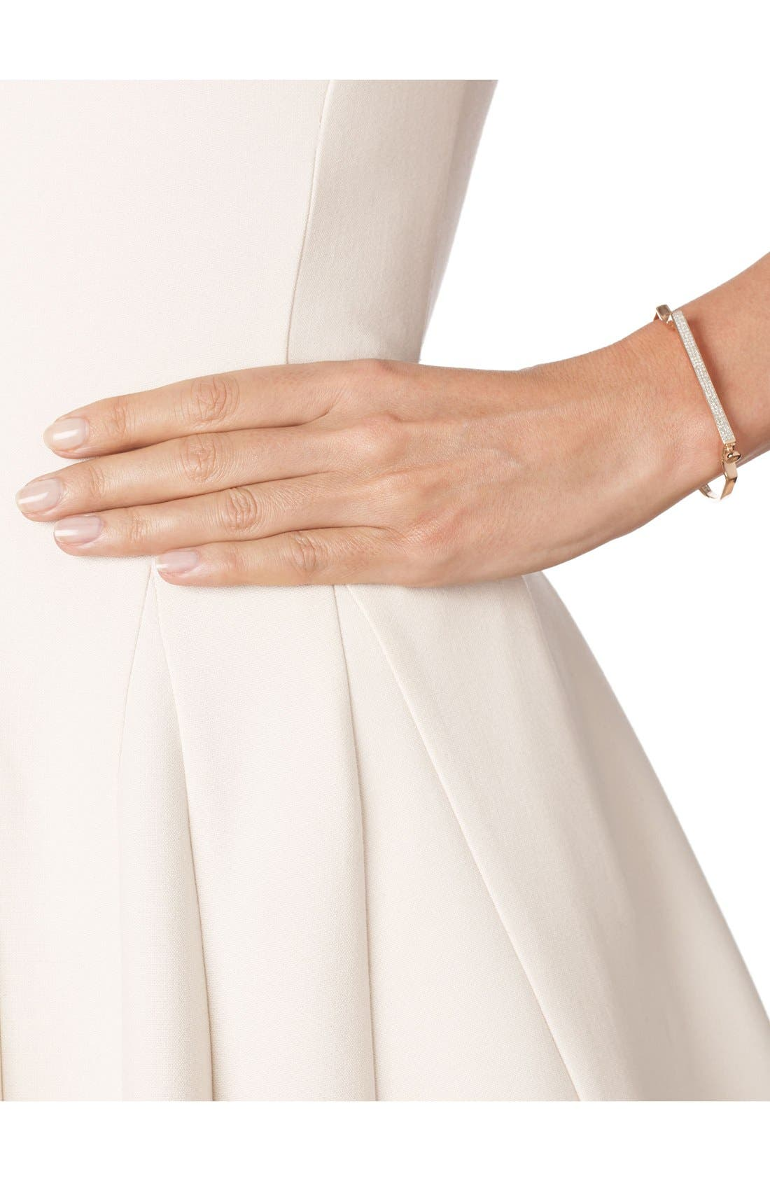 Alternate Image 2  - Monica Vinader Signature Thin Diamond Bangle