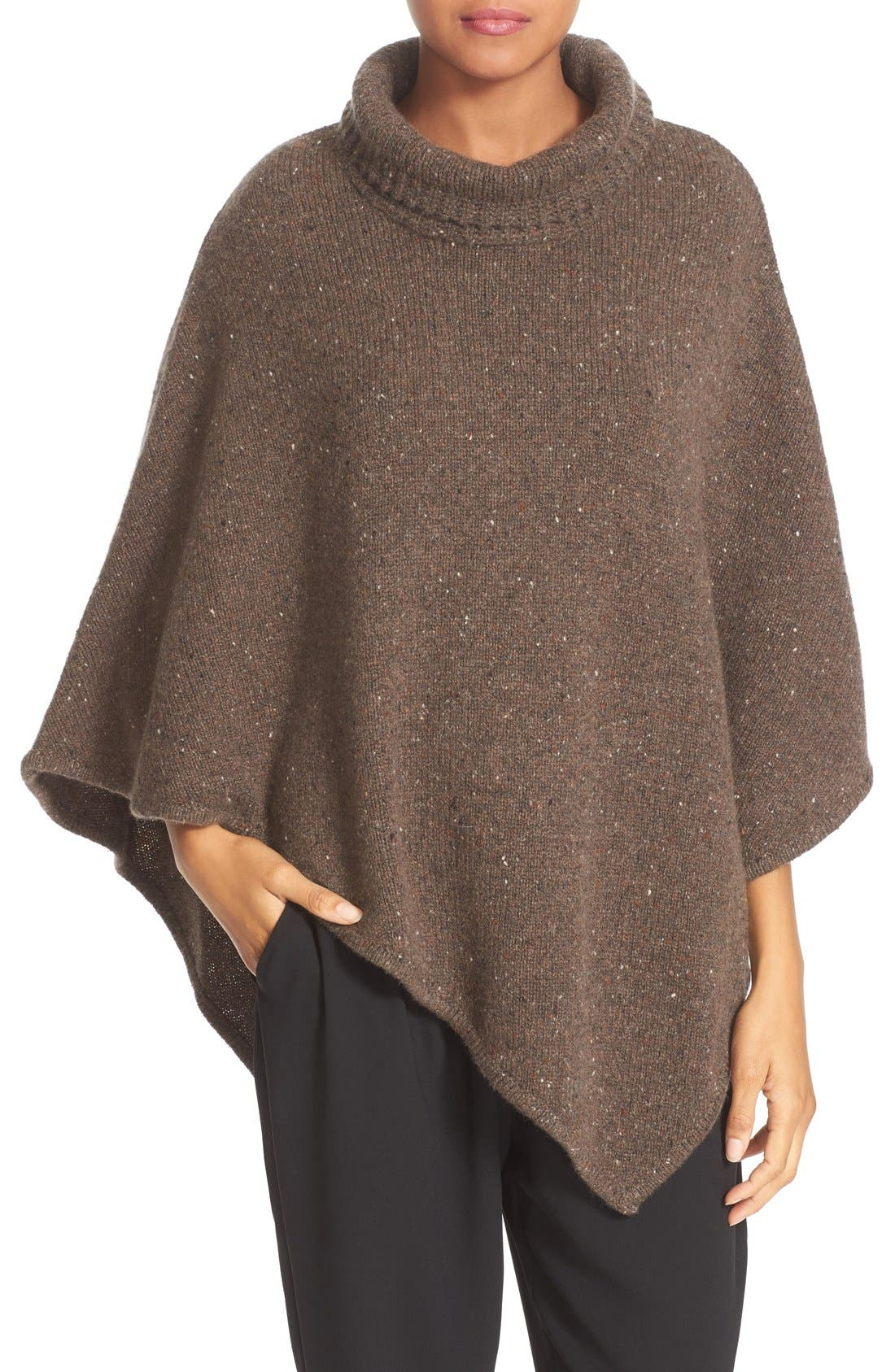 Alternate Image 1 Selected - Joie 'Haesel C' Tweed Cashmere Turtleneck Poncho