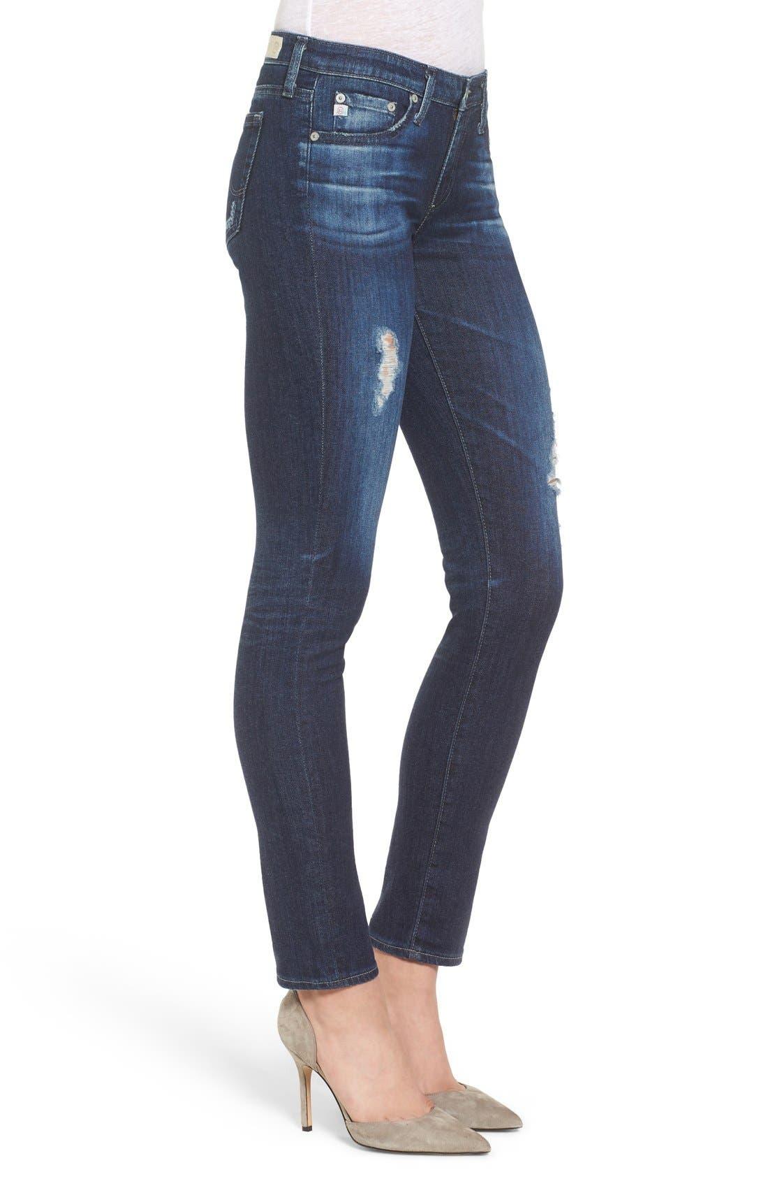 Alternate Image 3  - AG 'The Stilt' Cigarette Leg Jeans (7 Year Ripped)