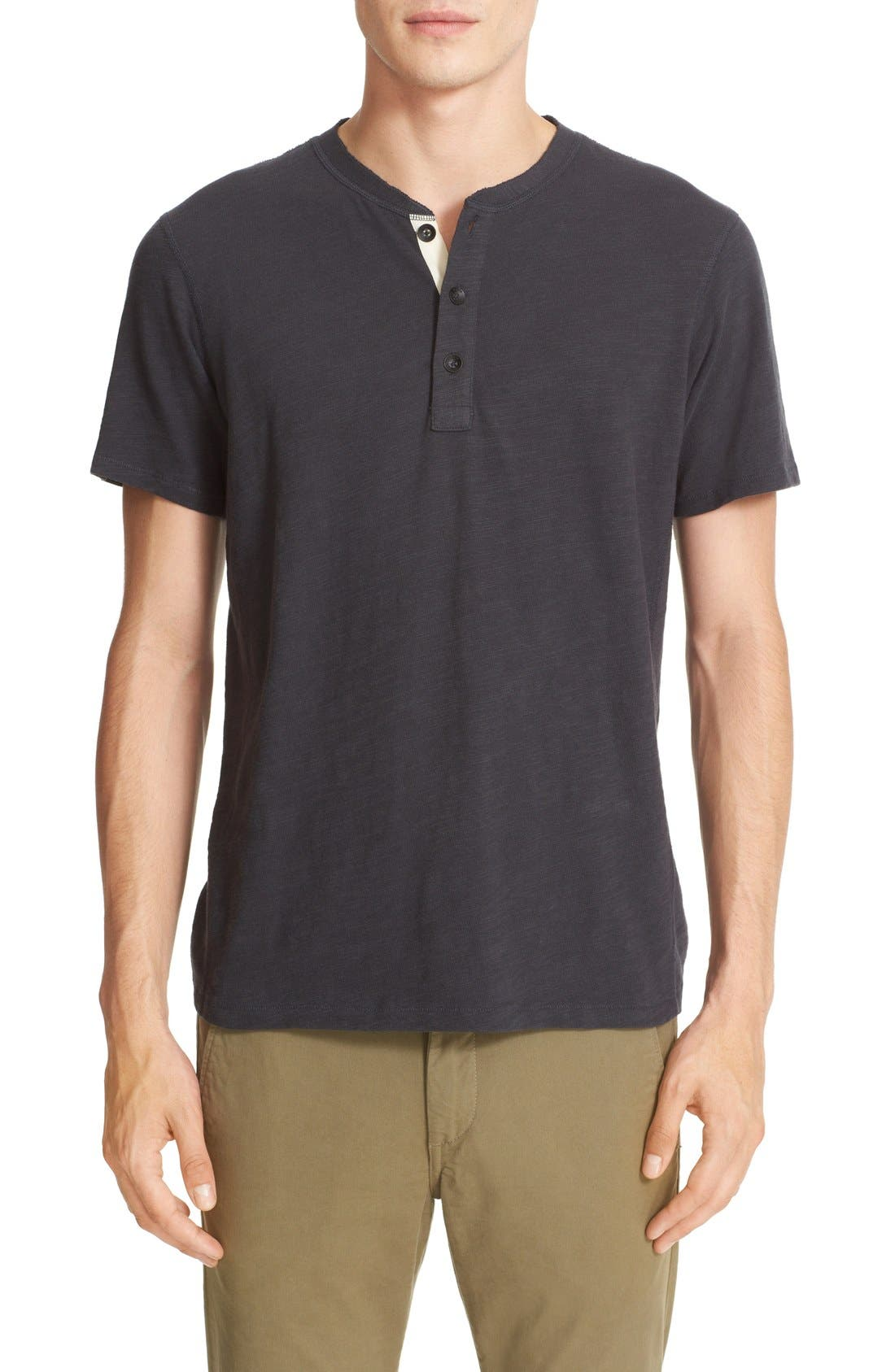 Standard Issue Henley,                             Main thumbnail 1, color,                             Black