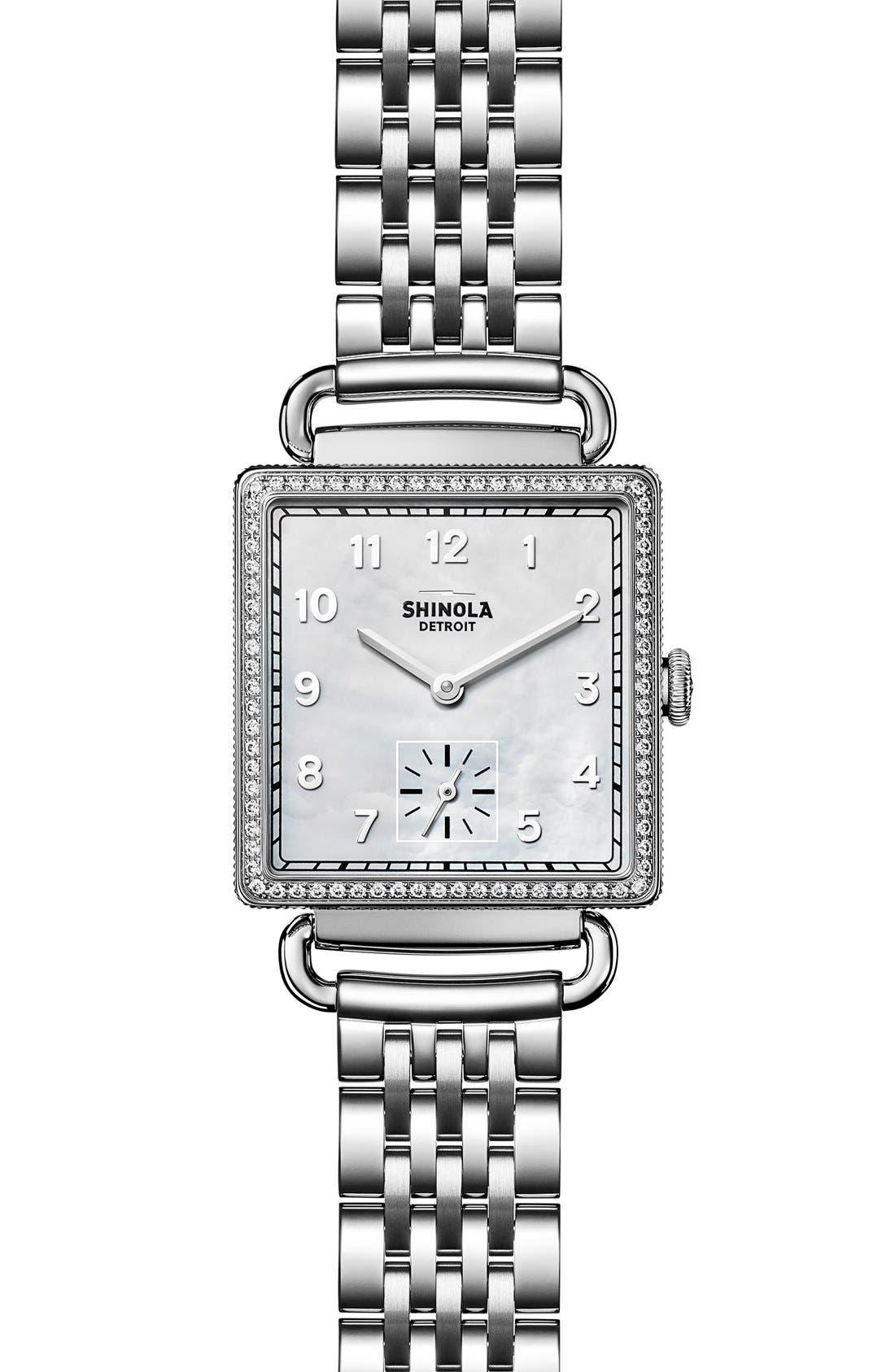 Shinola Cass Diamond Bracelet Watch, 28mm
