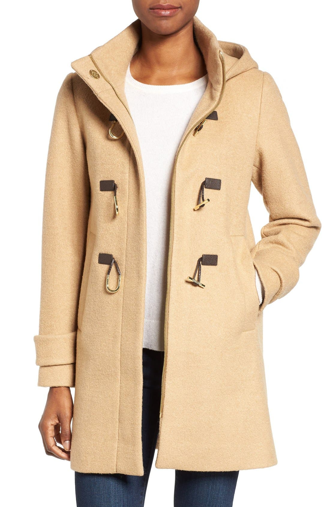 Alternate Image 1 Selected - Vince Camuto Boiled Wool Blend Duffle Coat