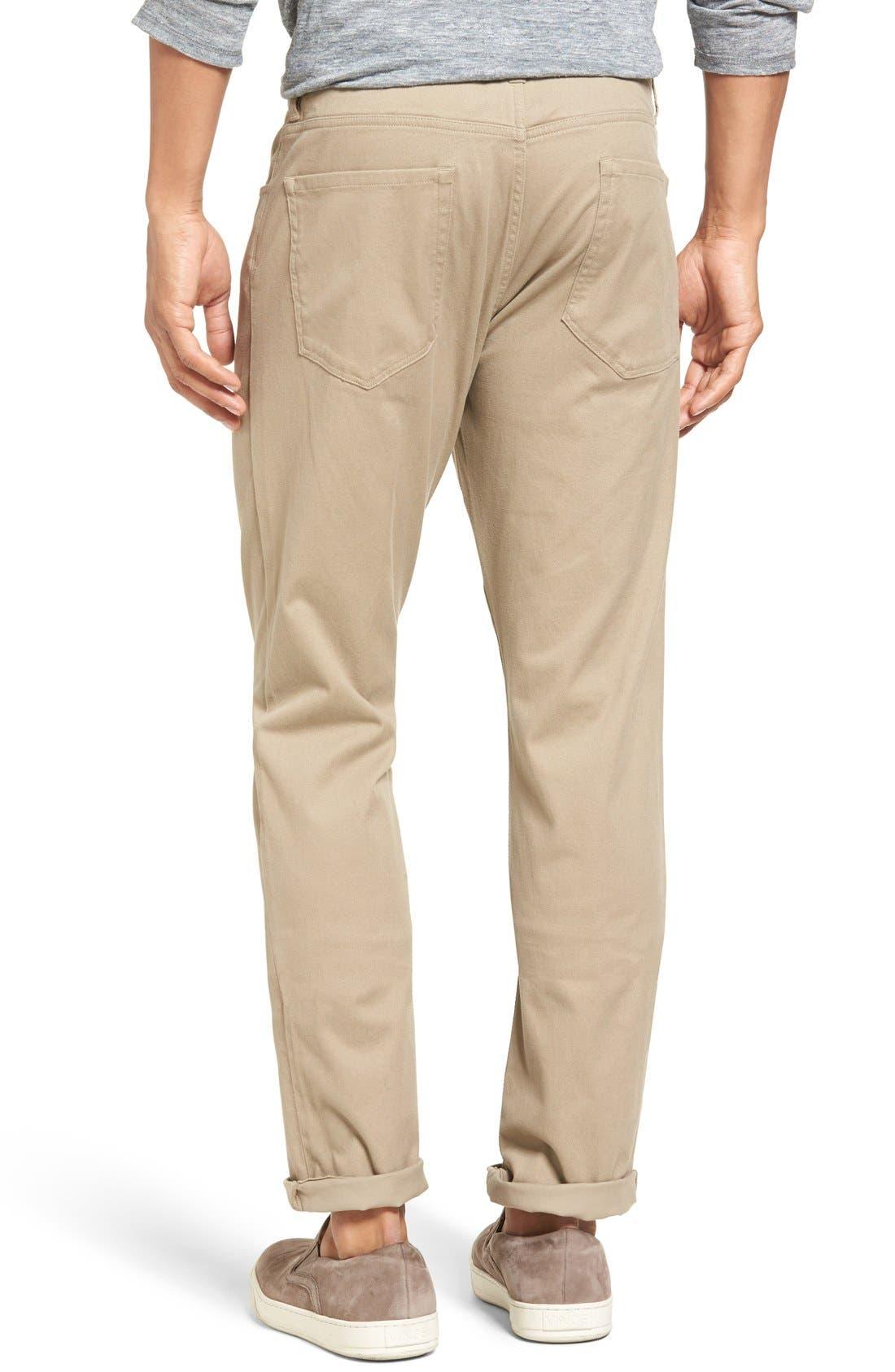 Soho Slim Fit Five-Pocket Pants,                             Alternate thumbnail 3, color,                             Khaki