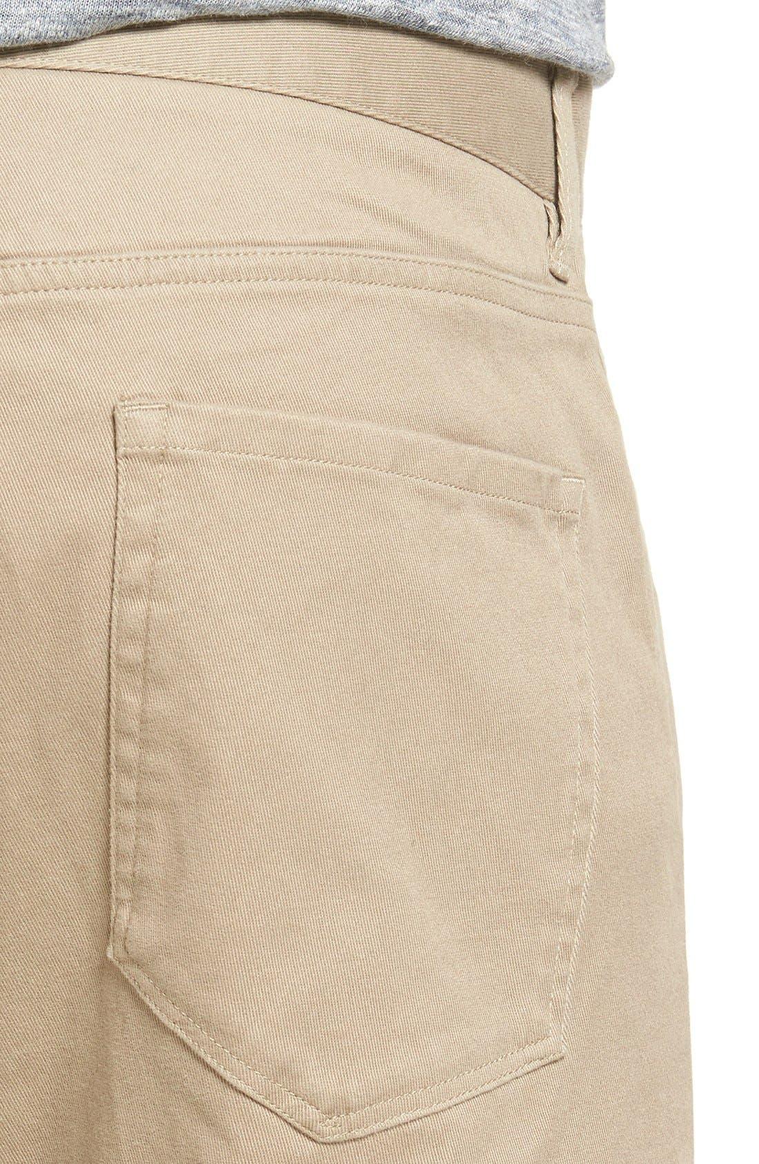 Soho Slim Fit Five-Pocket Pants,                             Alternate thumbnail 4, color,                             Khaki
