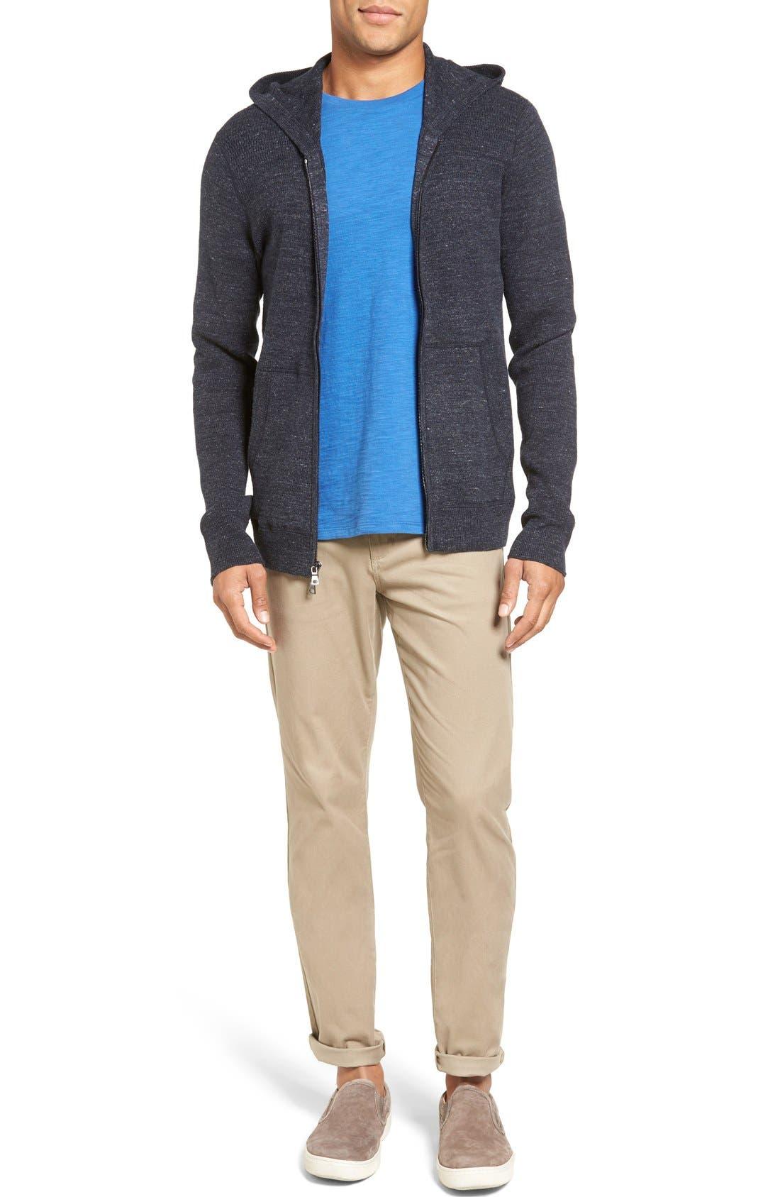 Soho Slim Fit Five-Pocket Pants,                             Alternate thumbnail 6, color,                             Khaki