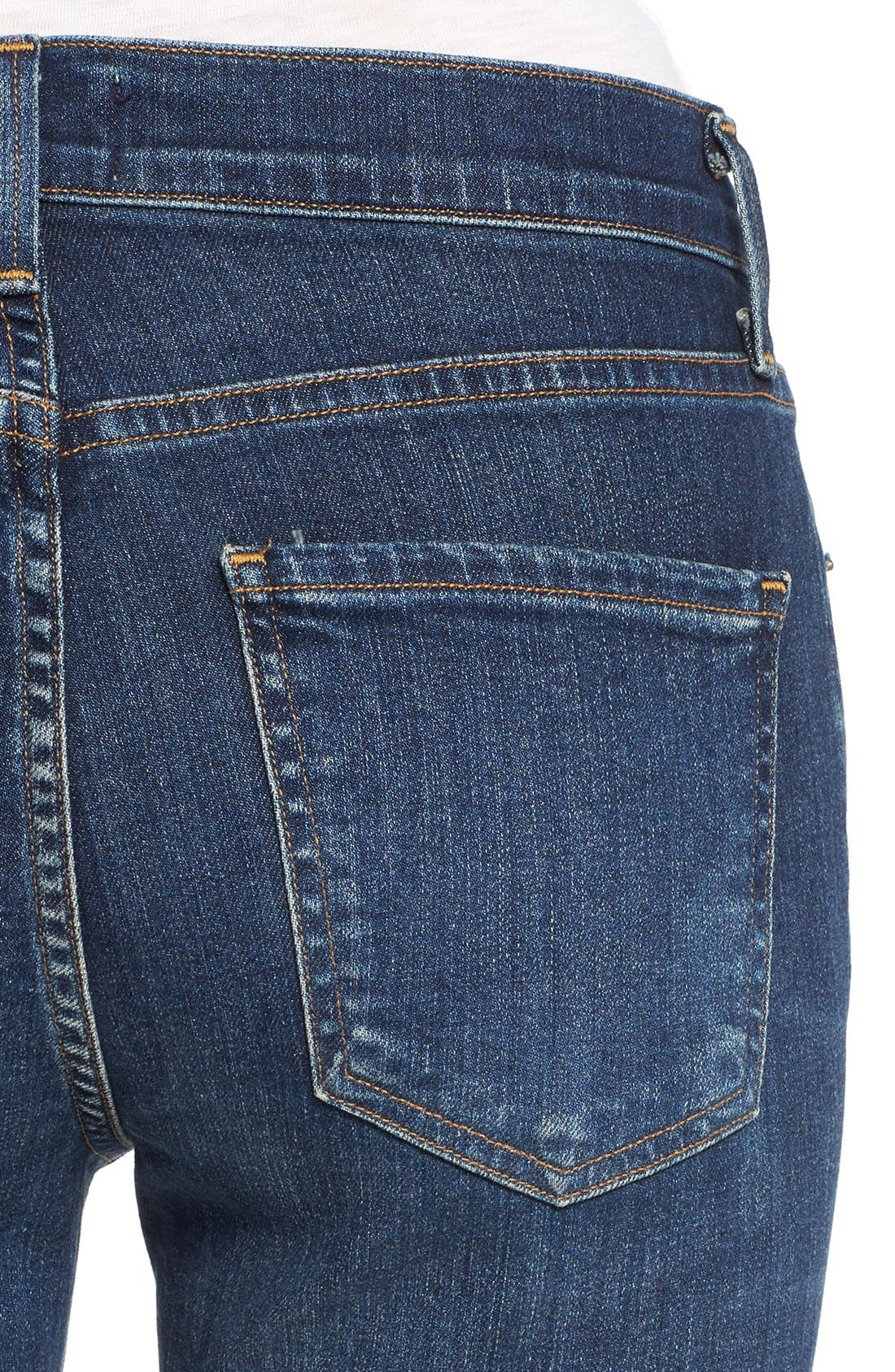 Alternate Image 4  - AGOLDE Sophie High Rise Ankle Skinny Jeans (Chamberlin)