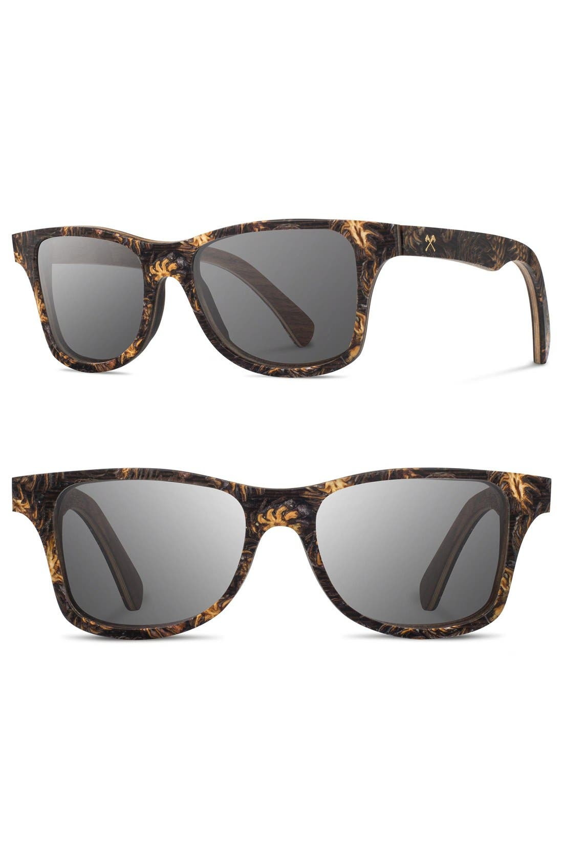 SHWOOD Canby 55mm Polarized Pine Cone & Wood Sunglasses