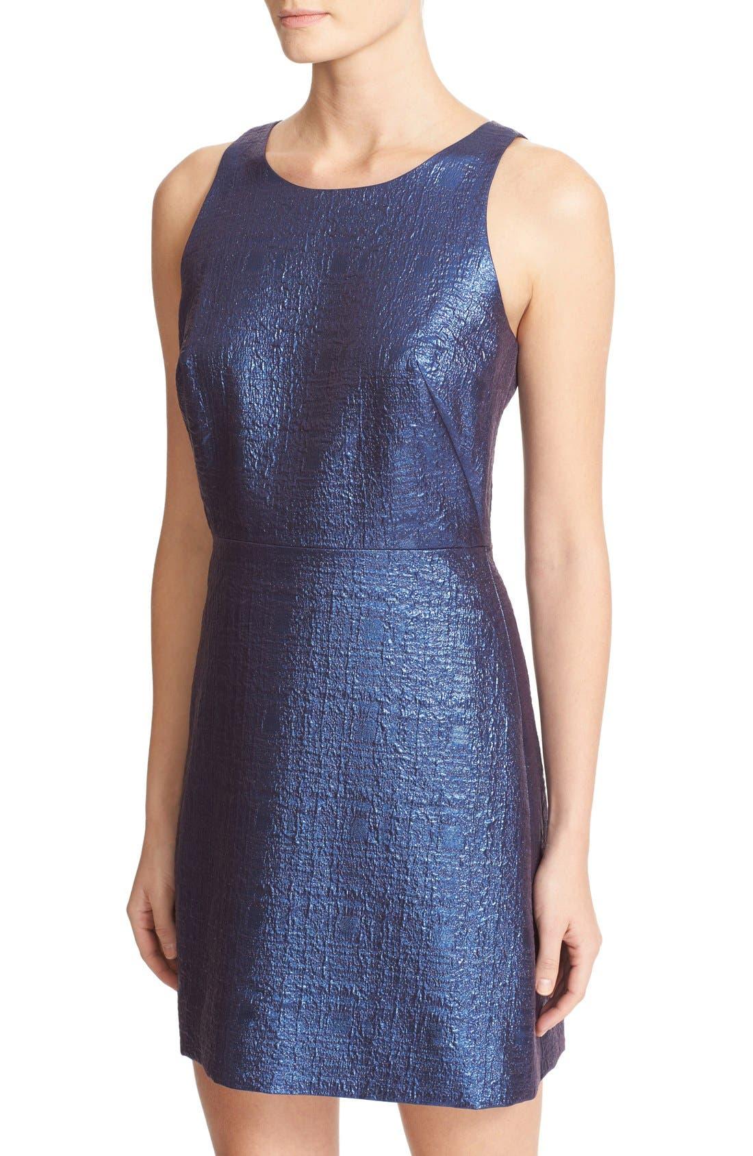 Alternate Image 4  - Milly Metallic Jacquard A-Line Dress