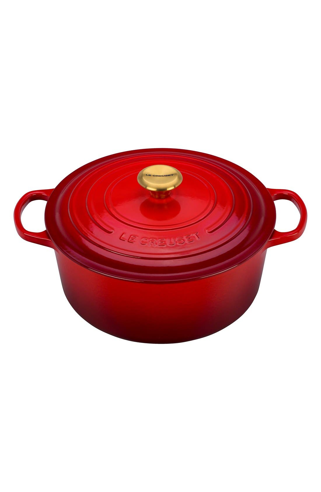 Alternate Image 1 Selected - Le Creuset Gold Knob Collection 7 1/2 Quart Round French/Dutch Oven