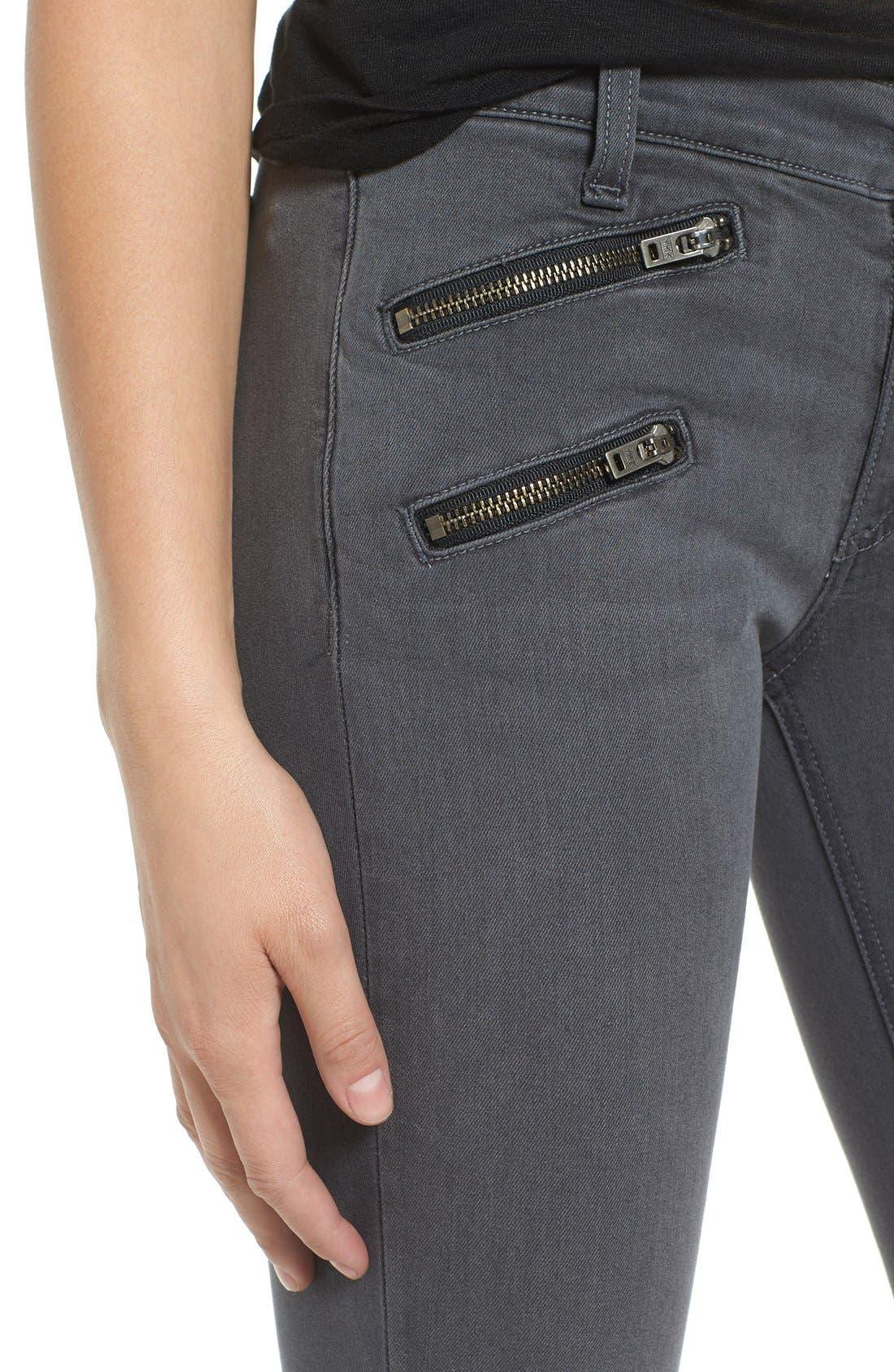 Alternate Image 4  - rag & bone/JEAN RBW23 Zip Detail Skinny Jeans (Seattle)