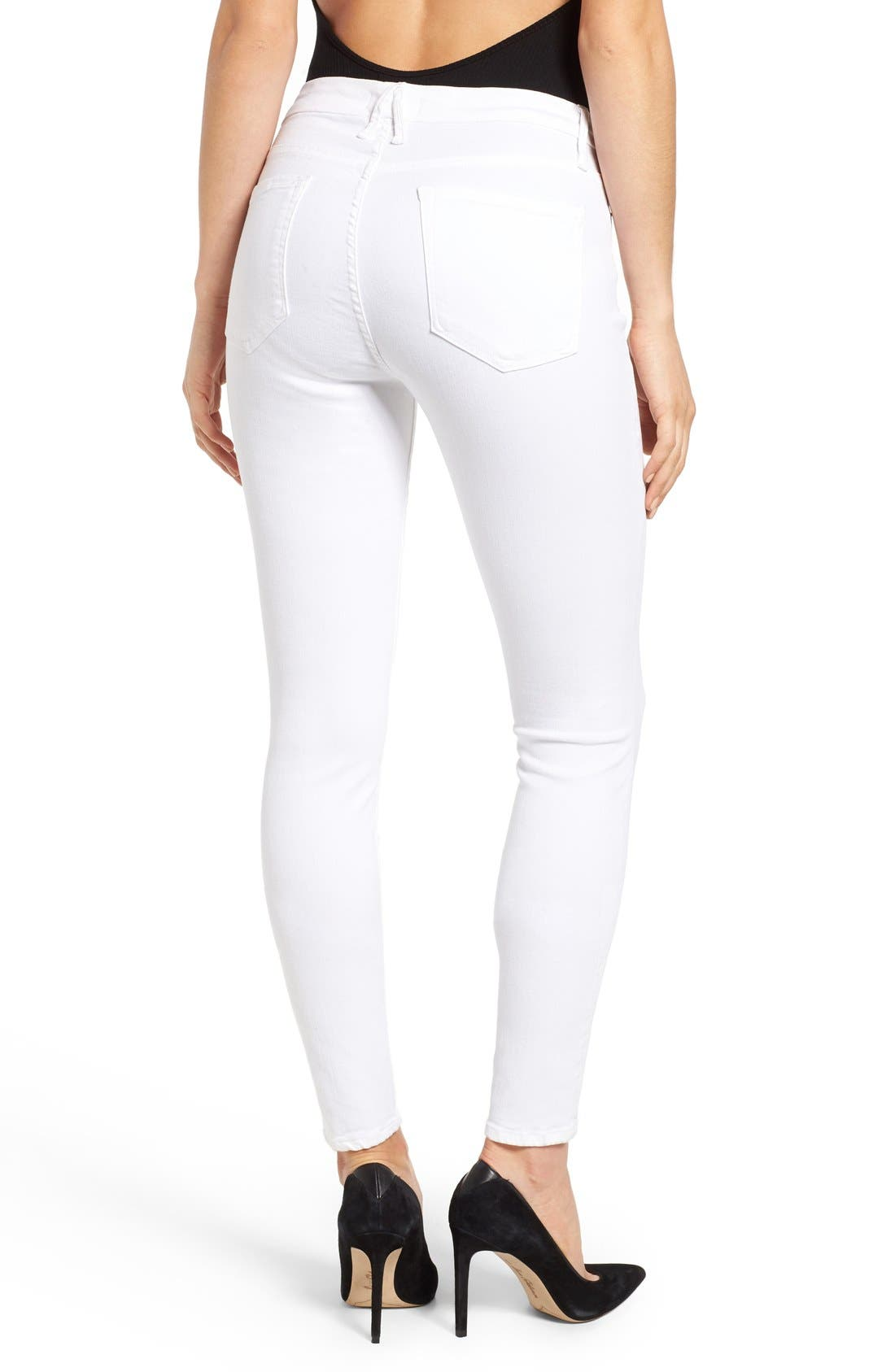 Alternate Image 2  - Good American Good Legs High Rise Skinny Jeans (White 001) (Extended Sizes)