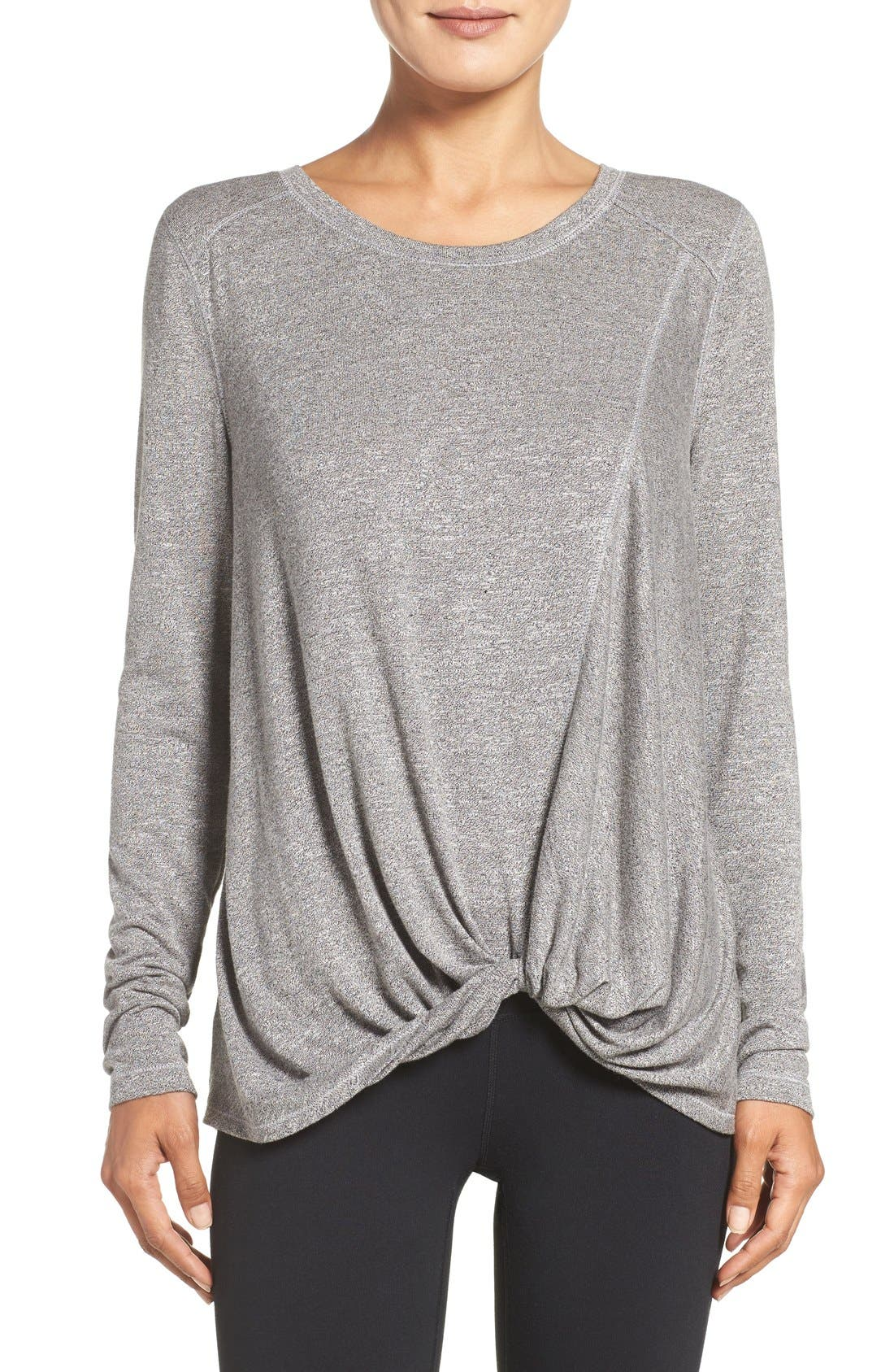 Twisty Turn Tee,                         Main,                         color, Grey Dark Heather