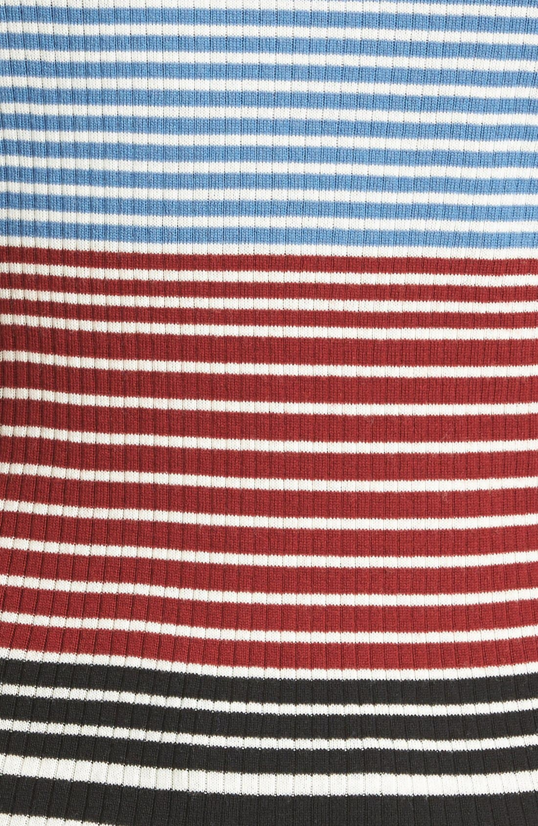Alternate Image 5  - Theory Mirzi Stripe Rib Knit Merino Sweater