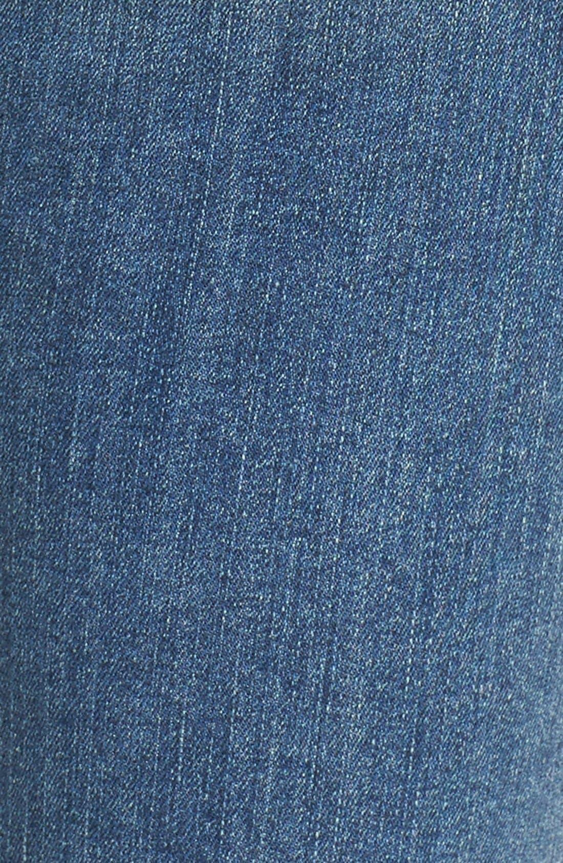 Alternate Image 9  - Good American Good Legs High Rise Ripped Skinny Jeans (Blue 006)