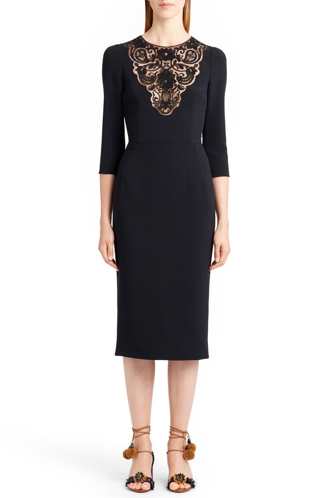 Dolce&Gabbana Lace Inset Sheath Dress