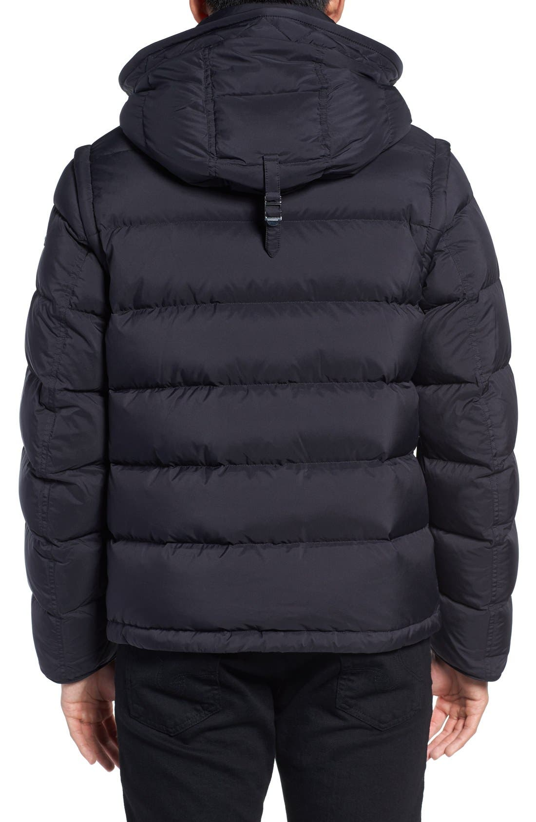 Convertible Quilted Jacket,                             Alternate thumbnail 2, color,                             Black