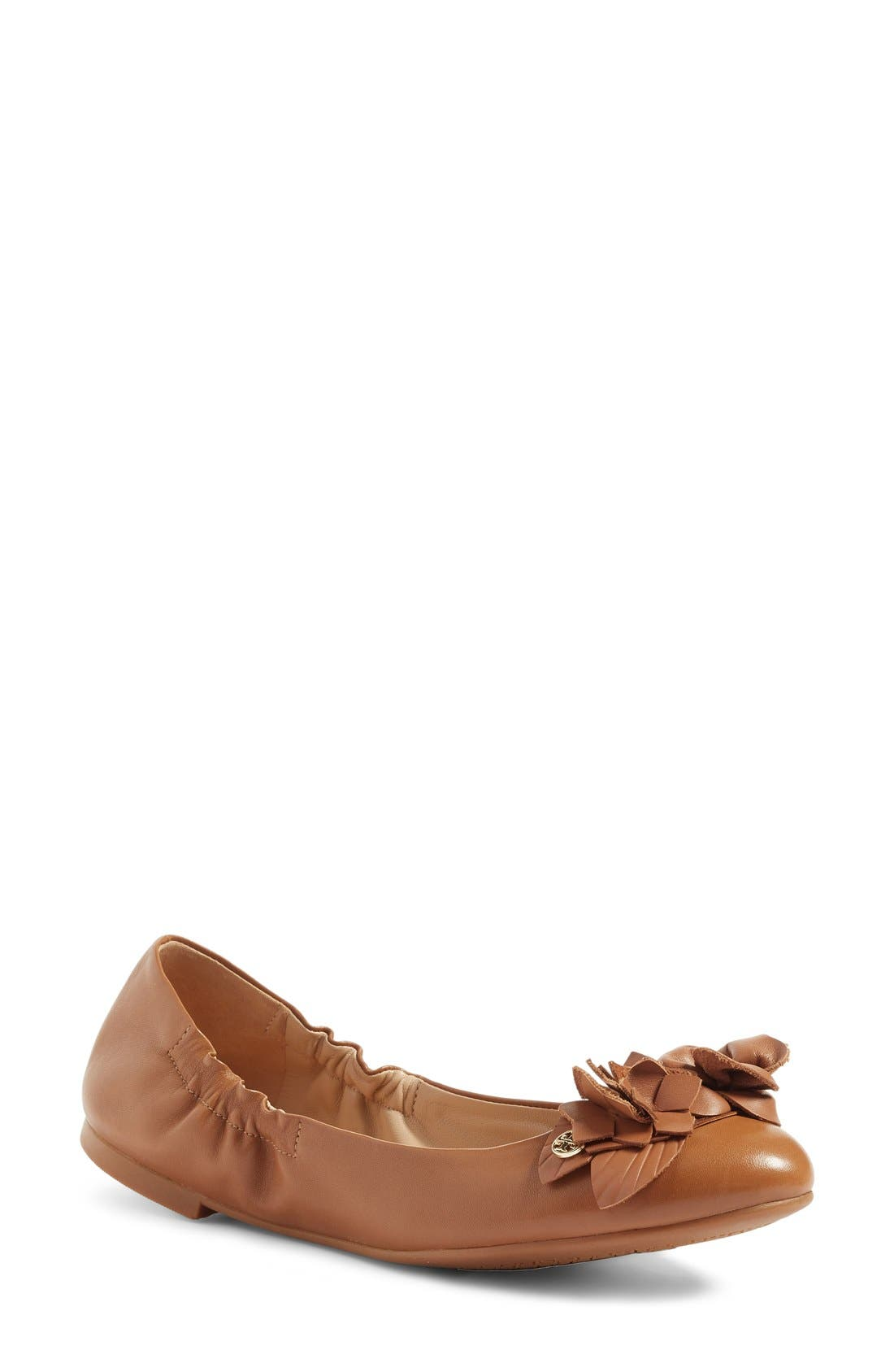 'Blossom' Ballet Flat,                         Main,                         color, Tan Leather