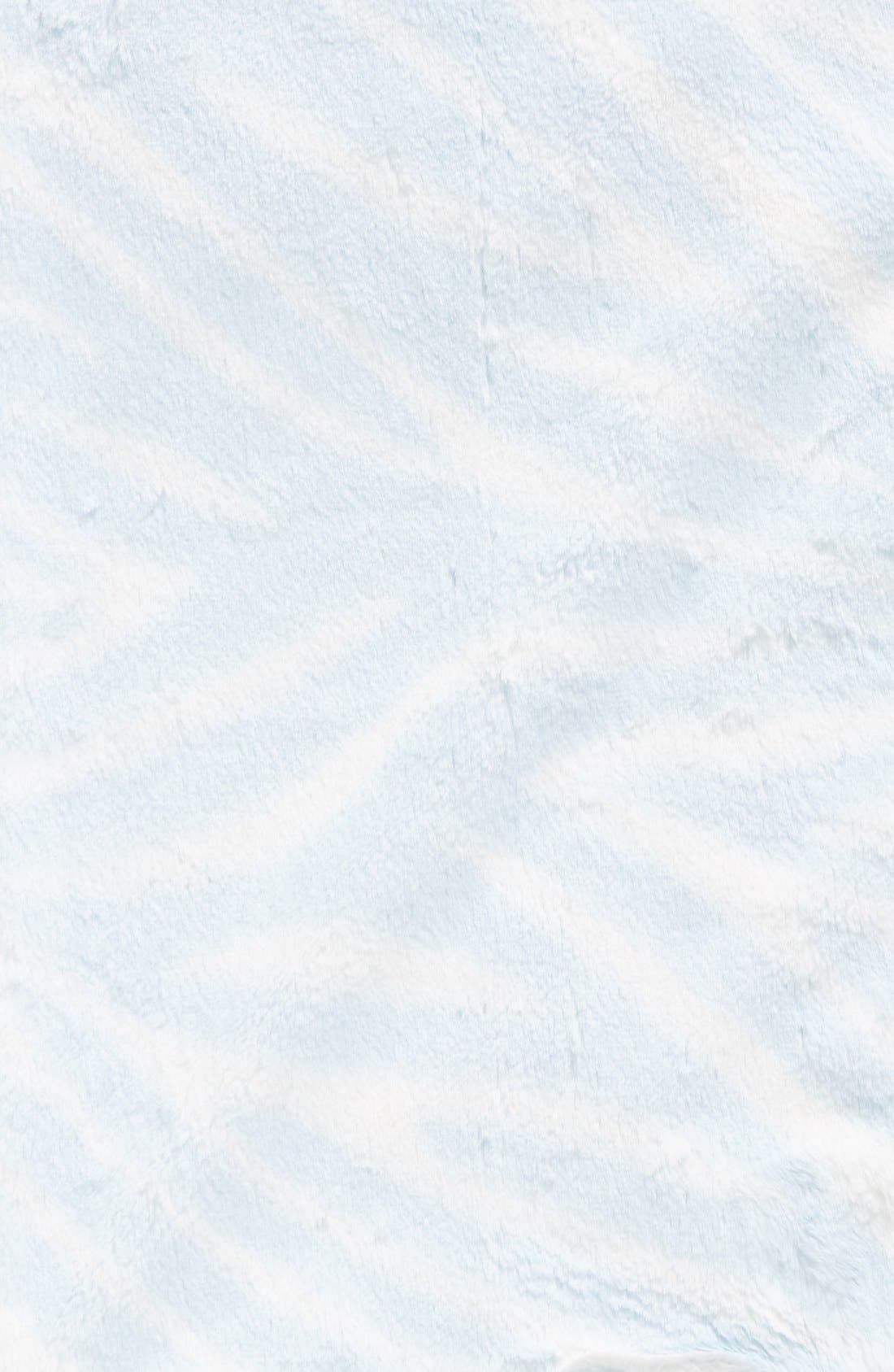 Luxe<sup>™</sup> Zebra Print Blanket,                             Alternate thumbnail 2, color,                             Blue