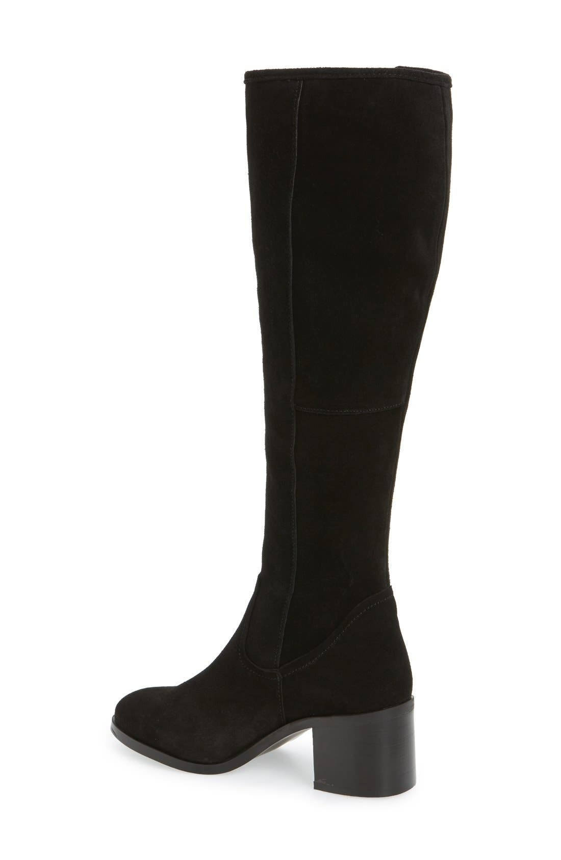 Lasso Boot,                             Alternate thumbnail 2, color,                             Black Suede