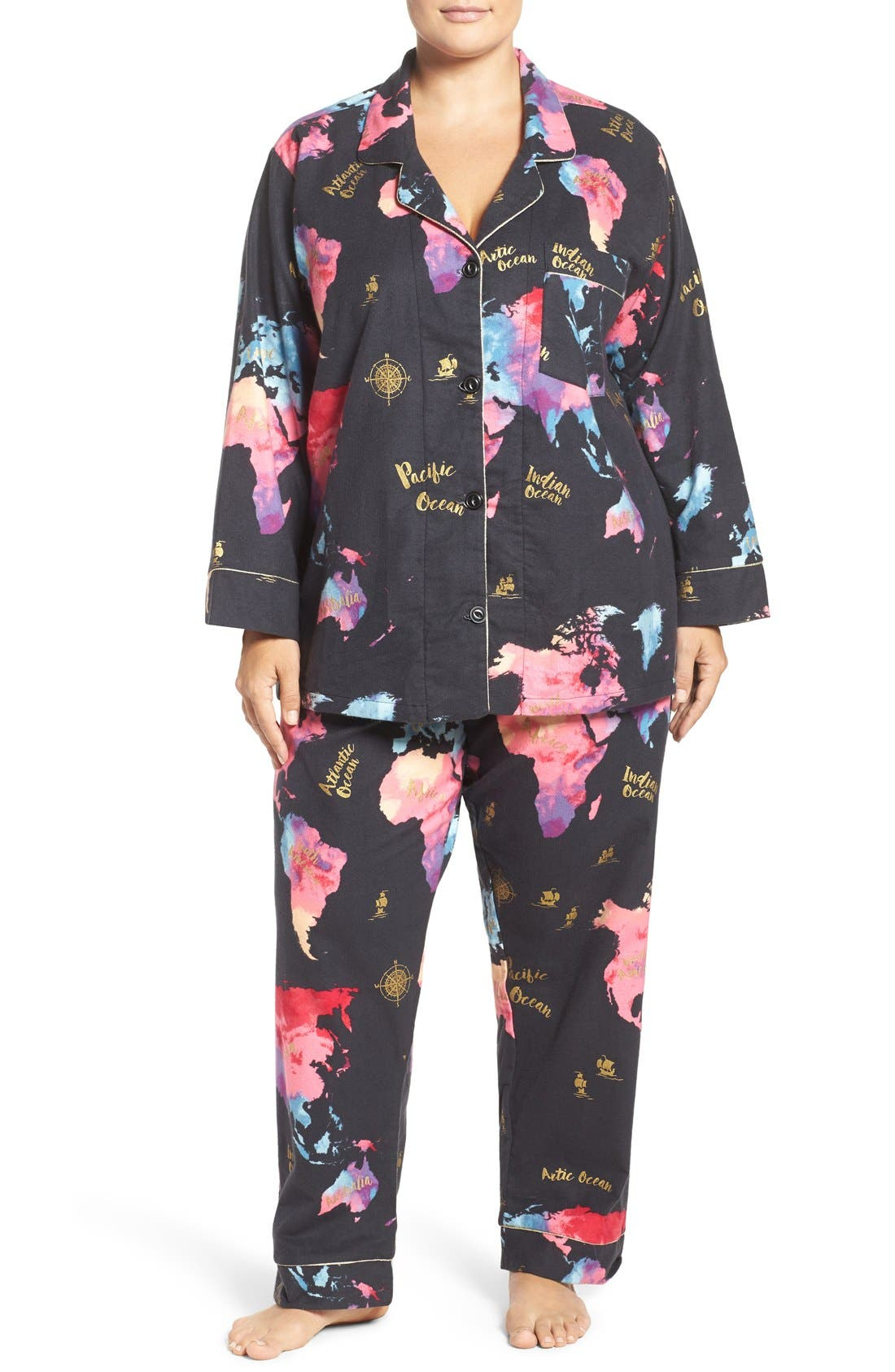 BedHead Print Flannel Pajamas (Plus Size)